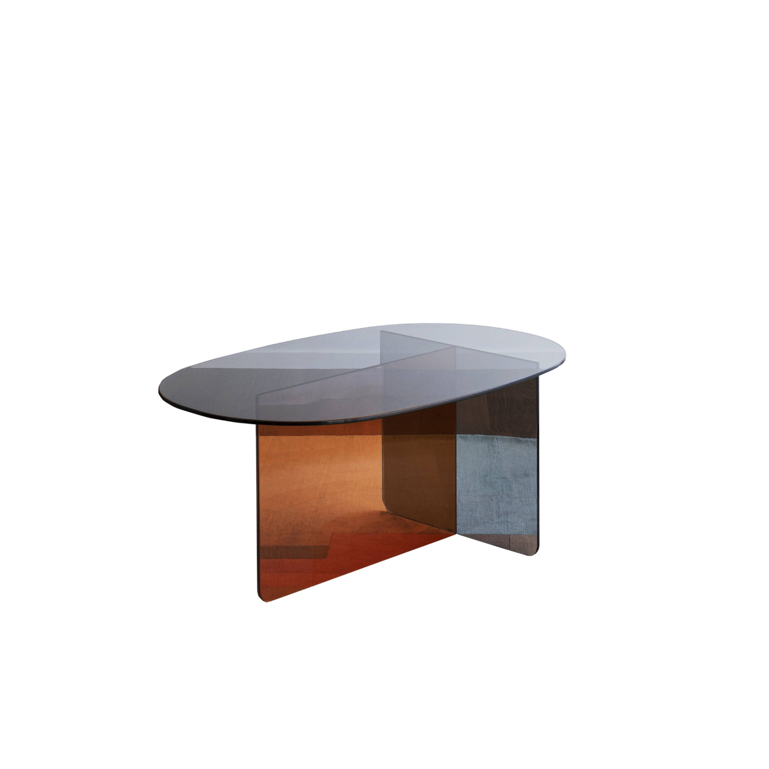 Chap Coffee Table - Chap is a primary object that finds expression through shape and colour. Organic and primitive in taste, this essential element sports the striking decorative texture of Palladio Moro marble or the transparency of glass. | Matter of Stuff