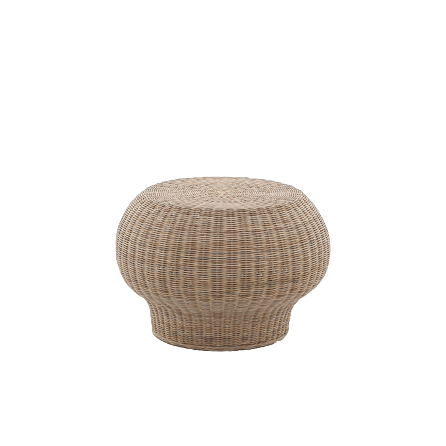 Bolla 10 Coffee Table - It is a Side table in natural melange rattan core. It is also available in matt white, grey, air force blue, black lacquered. | Matter of Stuff