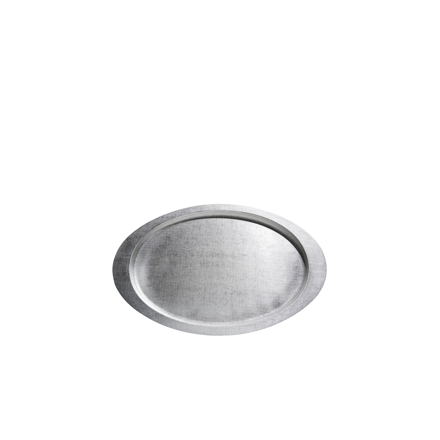 """Velvet Oval Tray  - Silver-plated oval tray characterized by the particular and elegant hammering """"Velvet"""".  It is embellished with a unique, hand-hammered surface texture with a velvety feel. 