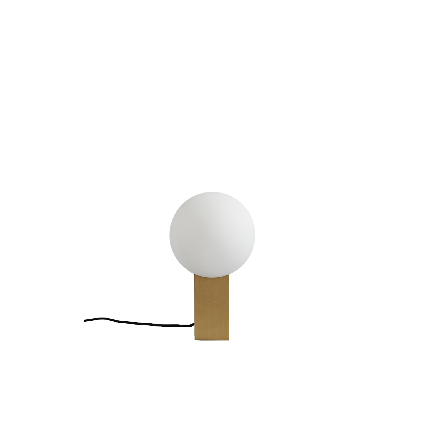 Hoop Table Lamp - So simple, yet so sophisticated and uncompromised. It is hard to believe that a simple shape can create a stunning and art like lamp, but the Hoop series gives you just this with an almost naive essence of geometry and form.   The silhouette itself can light up even the darkest places and by offering the Hoop lamps in both brass and bronze it is possible to create two unique atmospheres with the same lamp.  | Matter of Stuff