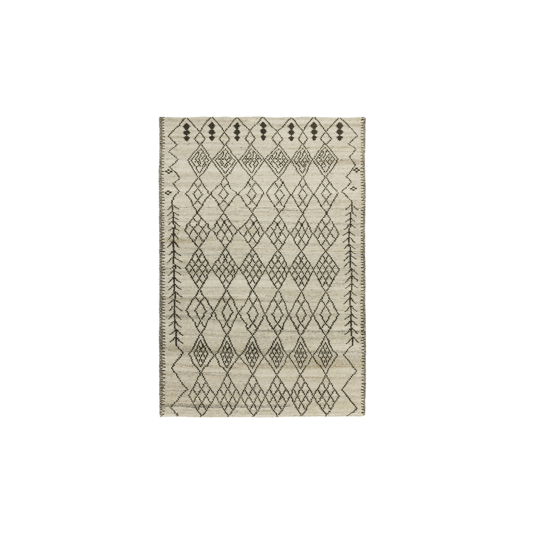 Amira 01 Rug - Part of the Classica Heritage Collection, timeless oriental and Persians deisgns are refreshed for the present day. Classic looks and traditional crafts feature throughout for sophisticated style and long-lasting appearences. Amira is a hand-knotted rug with a Maroccan Berber look, washed for a softer feel. Avaiable in different sizes.