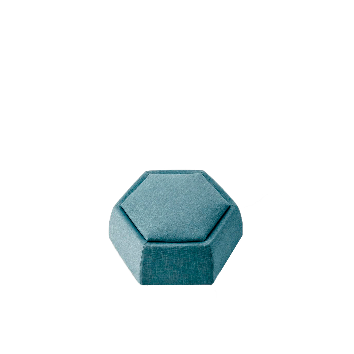 Honey Pouf - Eclectic by nature, the Honey pouf appears to be a small hexagonal cell that adapts to the needs of the moment. Honey features a seamless modular design, and the various elements can be attached and combined to form a veritable honeycomb. Honey is an artisanal product, created using a sartorial process.  Additional removable cover is available, please enquire for prices. | Matter of Stuff