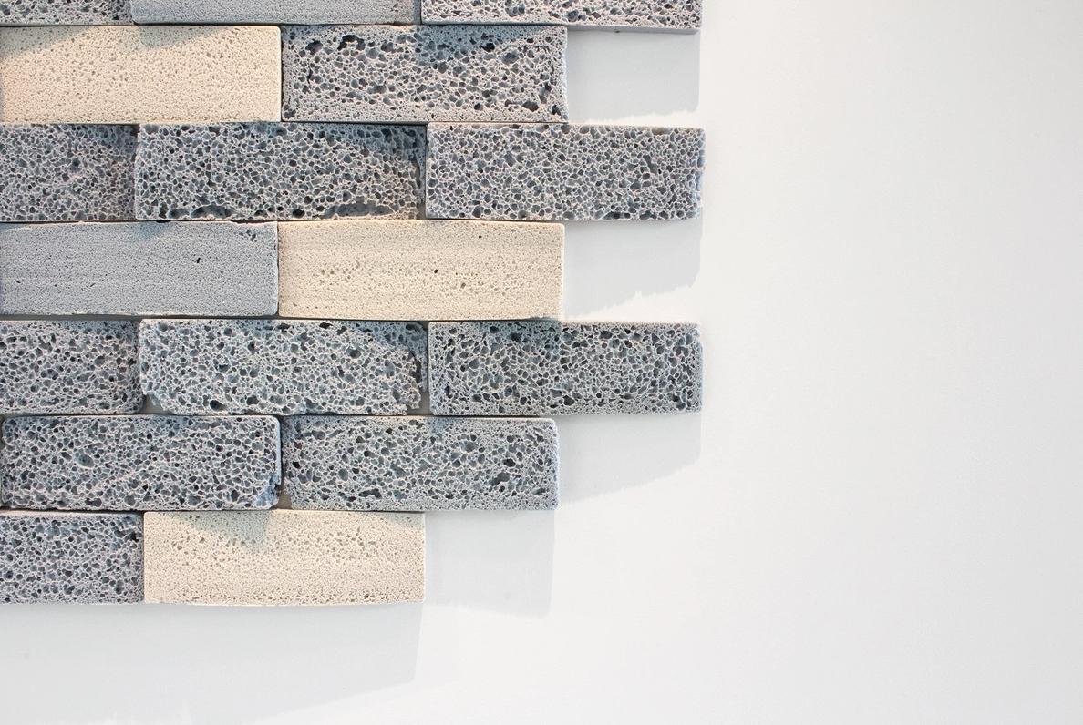 Glass Foam Tiles Dark grey
