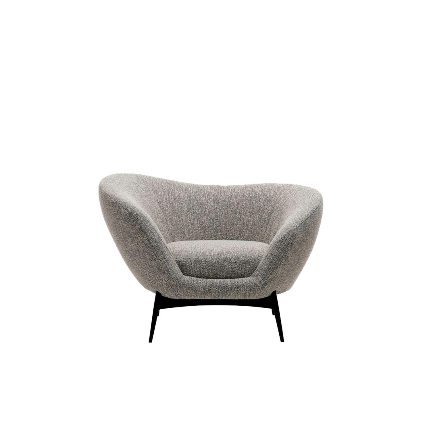 Oltremare Lounge Armchair - The asymmetric curves are the inspirations for the Oltremare armchair that completes the collection alongside a padded bench.‎