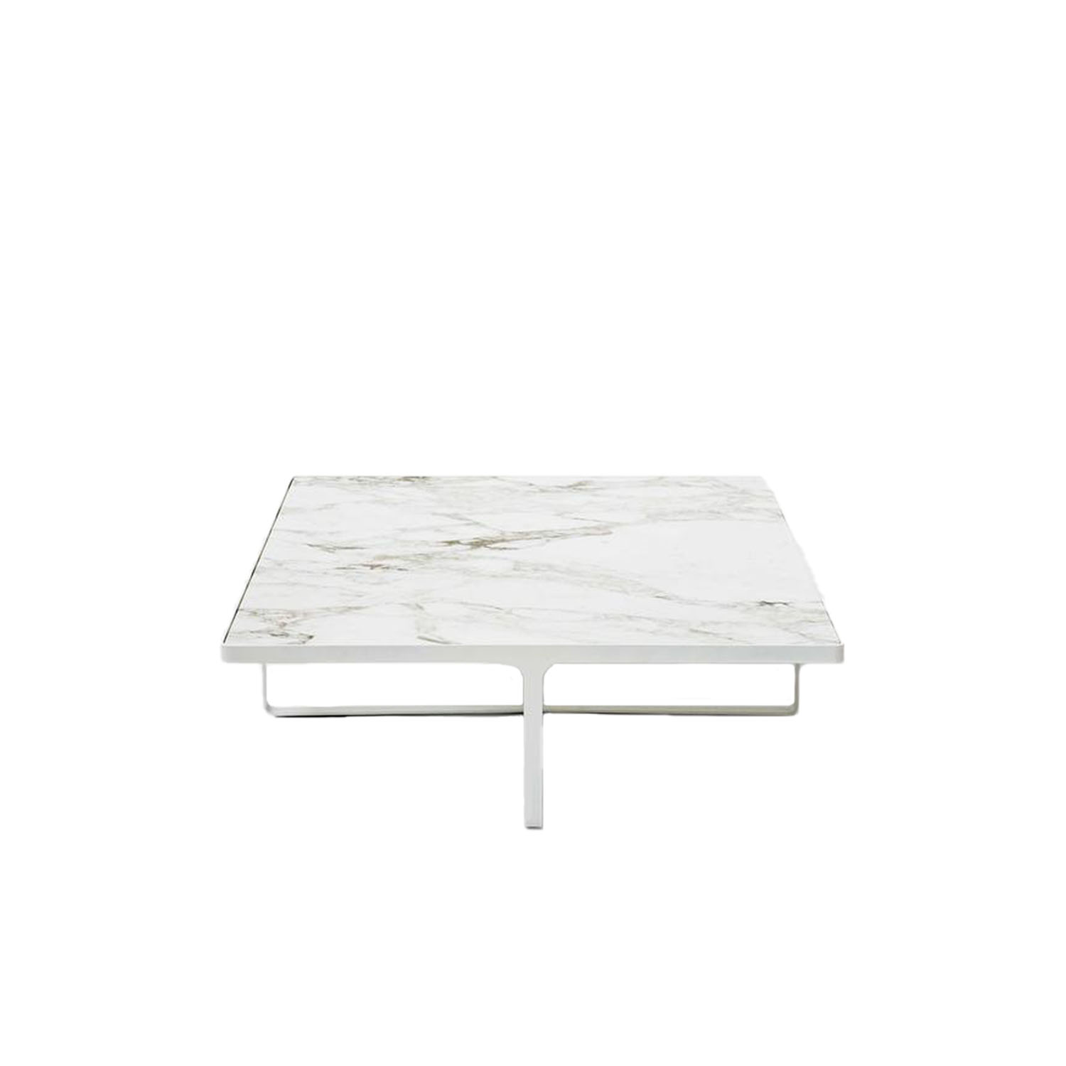 Cage Square Low Table  - Minimalism and elegance are the key features of Cage coffee tables, with their metal base that is both support and frame for the precious marble top. Cage tables can be round or square, high or low, and they accompany and complement all the sofas and armchairs in the Tacchini collections. | Matter of Stuff