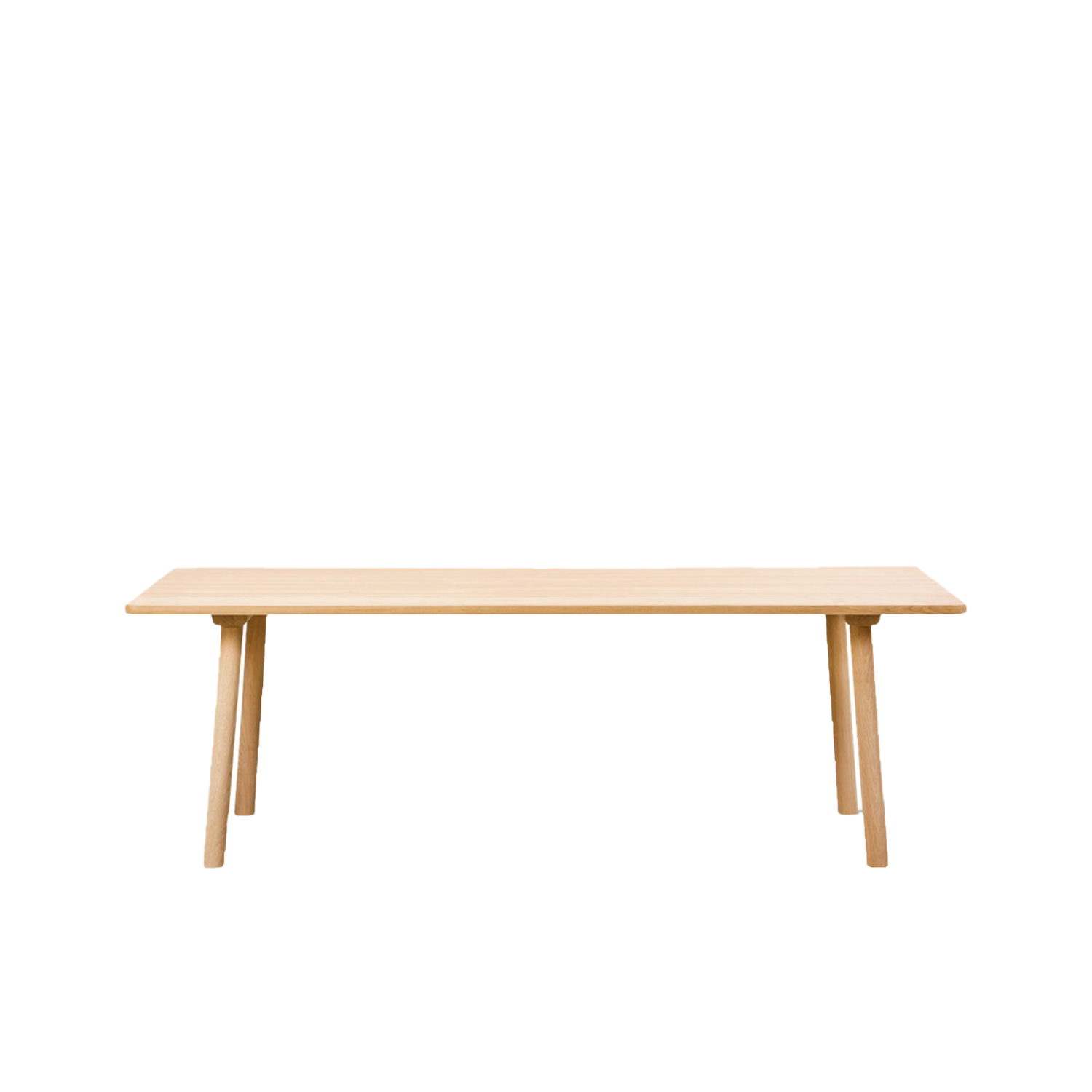 Taro 6106 Dining Table - Taro is a series of solid oak tables created with a strong focus on daily function and use, whether in the kitchen, dining area or meeting room. With machined grooves along its length, the table top resembles a traditional plank table, but has been executed in a refined and knotless selection of oak that will acquire the most beautiful patina.  Useful, understated, responsible design is an ongoing theme for Jasper Morrison. Seen in his focus on contemporary archetypes reduced to their functional essentials, as part of his definition of good design. Such is the case with our Taro Tables. Instead of starting with the purpose of a wood table, the starting point was finding a purpose for the wood itself.   Inspiration came from the premium grade quarter sawn oak at our Fredericia factory, used for many of our most compelling furniture designs, such as The Spanish Chair. The timber comes from trees aged upwards of 150 years, so maximising the most appealing planks while minimising wastage was a high priority.   The Taro Tables exude the natural appeal of oak, which will patinate beautifully over time, in a simple design that's unassuming yet appealing. Whether round or rectangular, for residential dining or corporate meetings, Taro commands attention with its solidity and stunning natural patterns of the wood grain.  | Matter of Stuff