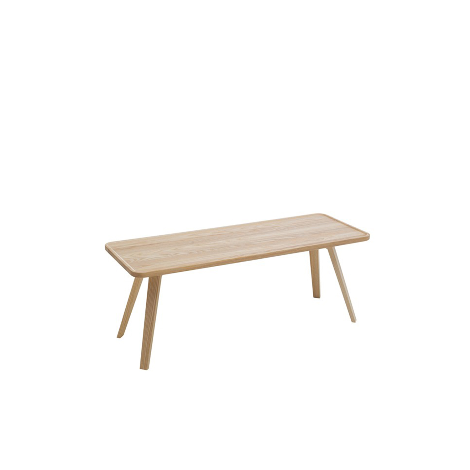 Mill Rectangular Coffee Table - Mill (2012) is a table with a solid wooden top and legs. The tabletop has been milled down to produce its distinctive appearance. Mill is available with a round, square or rectangular top in a number of different sizes and in heights of 460, 590 and 720 mm. The table is made of solid wood, so it can be sanded down and relacquered a number of times, making it suitable for use in settings where it is subjected to a lot of wear and tear.  Mill comes in a choice of oak, birch, ash, standard stains on ash and white glazed oak or ash. The table is also available in standard colors with tabletop made in MDF. Special sizes and other finishes upon request. You can use Mill to furnish cafés, kitchens and living rooms, or in hotels, schools, waiting areas etc.  Additional heights and dimensions are available, please see technical sheet attached and enquire for more details. | Matter of Stuff