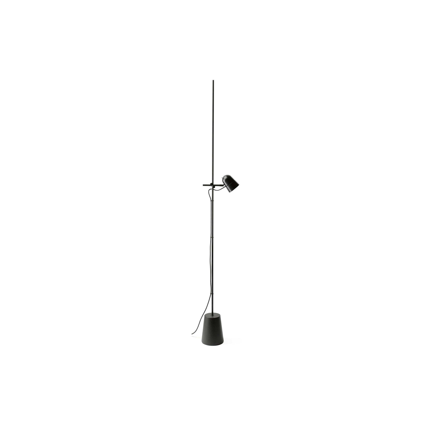 Counterbalance Floor Lamp -   In the floor version, Counterbalance conserves the characteristic aluminium cap, height-adjustable thanks to a simple sliding mechanism on the stem. | Matter of Stuff
