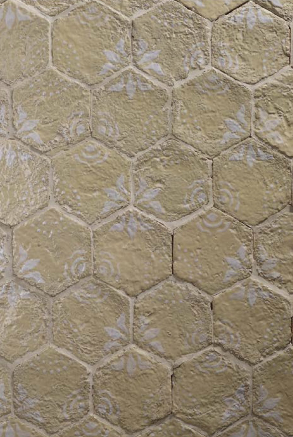 Hexagon Tiles Decoration on Beige -  | Matter of Stuff
