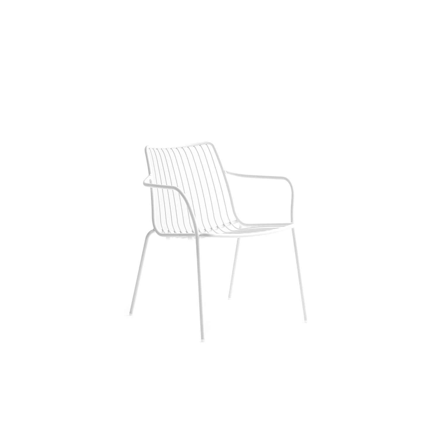 Nolita Lounge Chair - Nolita is a family of outdoor seatings which recalls the origins of a historic course started by Mario Pedrali in 1963 with his first metal garden chairs. Lounge armchair with steel tube frame powder coated for outdoor use.