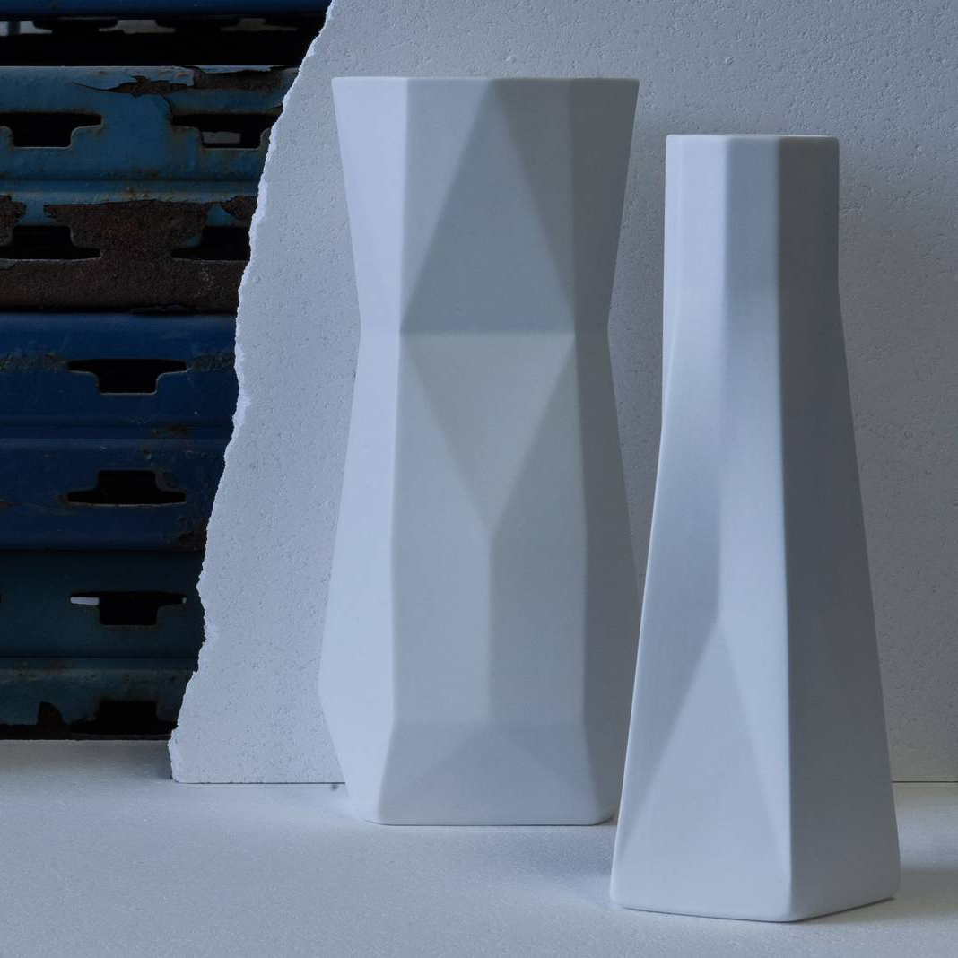Standard Ware Vase - Standard Ware, designed by Fort Standard, is a series of fine earthenware vessels celebrating the design vision which pairs timeless materials with modern process.  For the development of Standard Ware Greg and Ian quite literally had a conversation via the material they were working in – carving, etching, turning, adding, subtracting, each move informing the next, until they were satisfied that the object is as much something of its own as it is a collection of their ideas. Made in England. Microwave and dishwasher safe.   Matter of Stuff