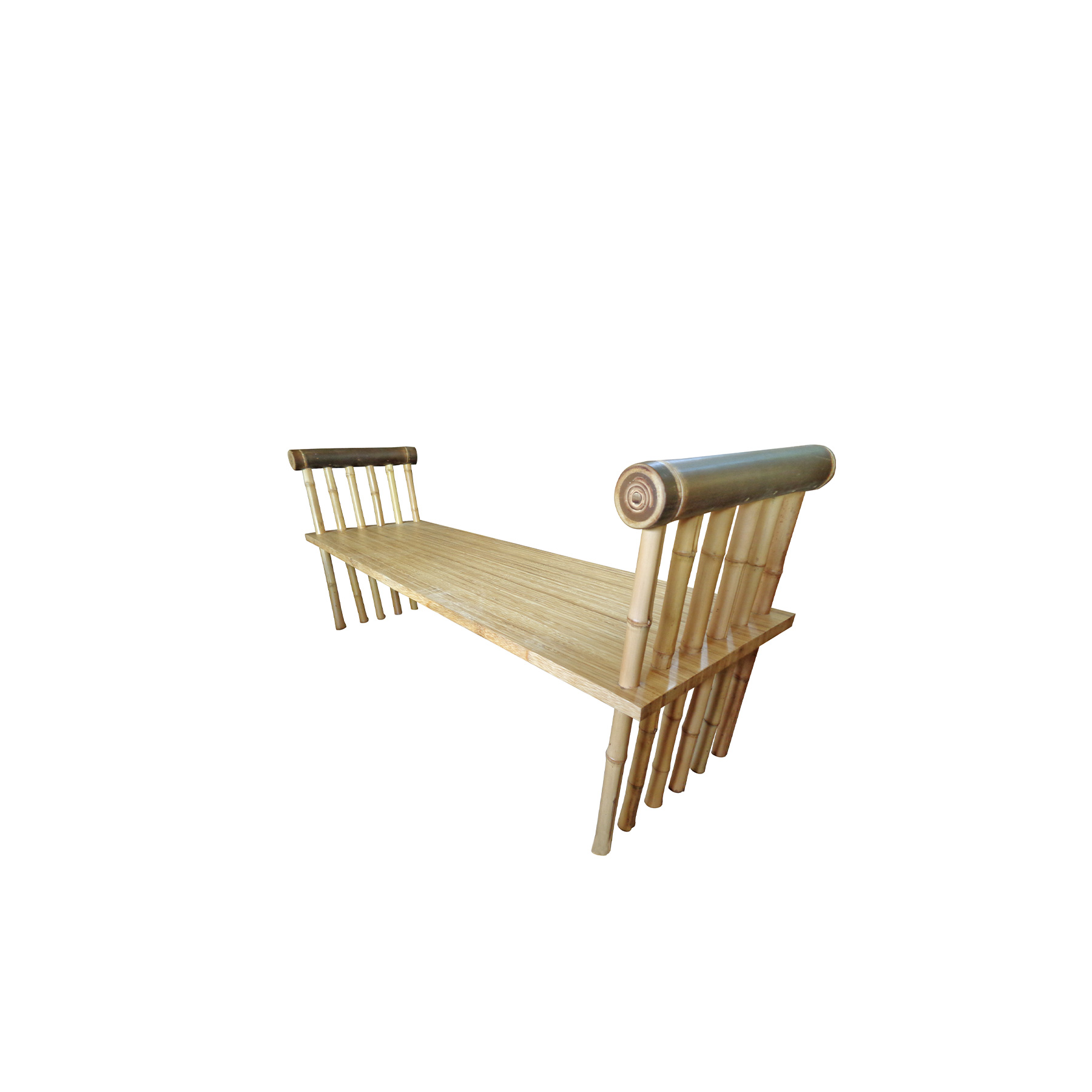 Dawn Bench - <p>Our bamboo is carefully selected from the river valleys and mountains of the islands of Bali and Java in Indonesia. We harvest from clumps that, once established, grow a new generation of shoots each year. It takes just a few months for a new bamboo shoot to reach its full height, and in three years it becomes timber ready for harvest. Our craftsmen combine their traditional skills with modern carpentry techniques to produce our all-bamboo furniture. They transform poles of bamboo into floors, walls, baskets, railings, beds, chairs, kitchens, ceilings, stairs, and tables.<br /> From customised pieces to interior designs, our furniture brings bamboo's unique warmth into any space, across the world. IBUKU's team of designers create innovative, hand-made masterpieces including stools, chairs, tables, lounges and beds. Our bespoke interior basket structures, screen panels and sculptures bring a sense of wonder into the everyday.</p> <p>IBUKU takes great care to ensure that only the mature poles are harvested, creating an incentive for the bamboo farmers to allow the younger shoots to grow to maturity for subsequent years' harvests.</p>  | Matter of Stuff