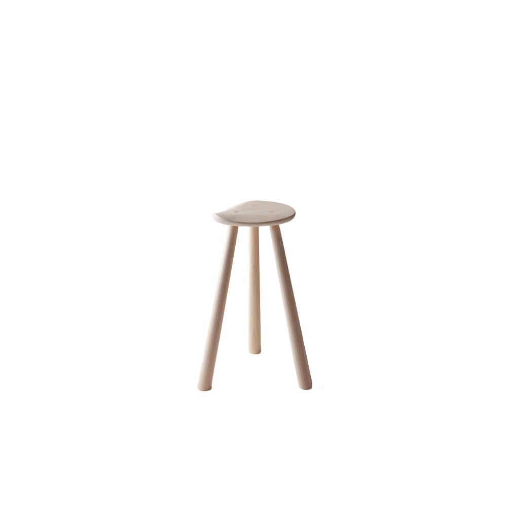 Classic RMJ Stool - This ergonomic stool was originally developed for the cabinet maker master Rudi Merz's own use when he felt that every now and then it might be better to sit down when working. Nowadays it is used in homes and meeting rooms.  Classic RMJ stool is available in two different heights and in birch&ash with an oiled or black stained finish.  | Matter of Stuff