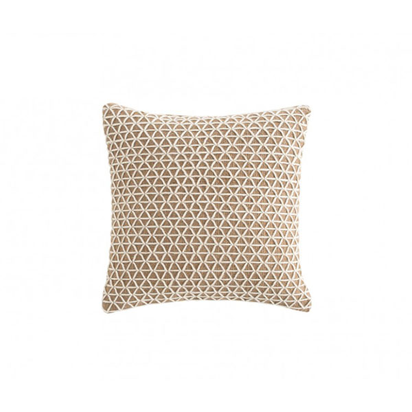 Raw Cushion - <p>Everything from its name, a synonym for purity and strength, to the Mediterranean architecture which inspires it, is a statement of sincerity and authenticity.A layer of soft wool over a jute base. Harmonious dialogue arises from the juxtaposition of two apparently antagonistic languages.The freshness of the permeable geometry of this second layer brings a contemporary look to an eminently classical design. Due to the handmade nature of the GAN product, slight variations in size, colour, finish are normal. </p>  | Matter of Stuff