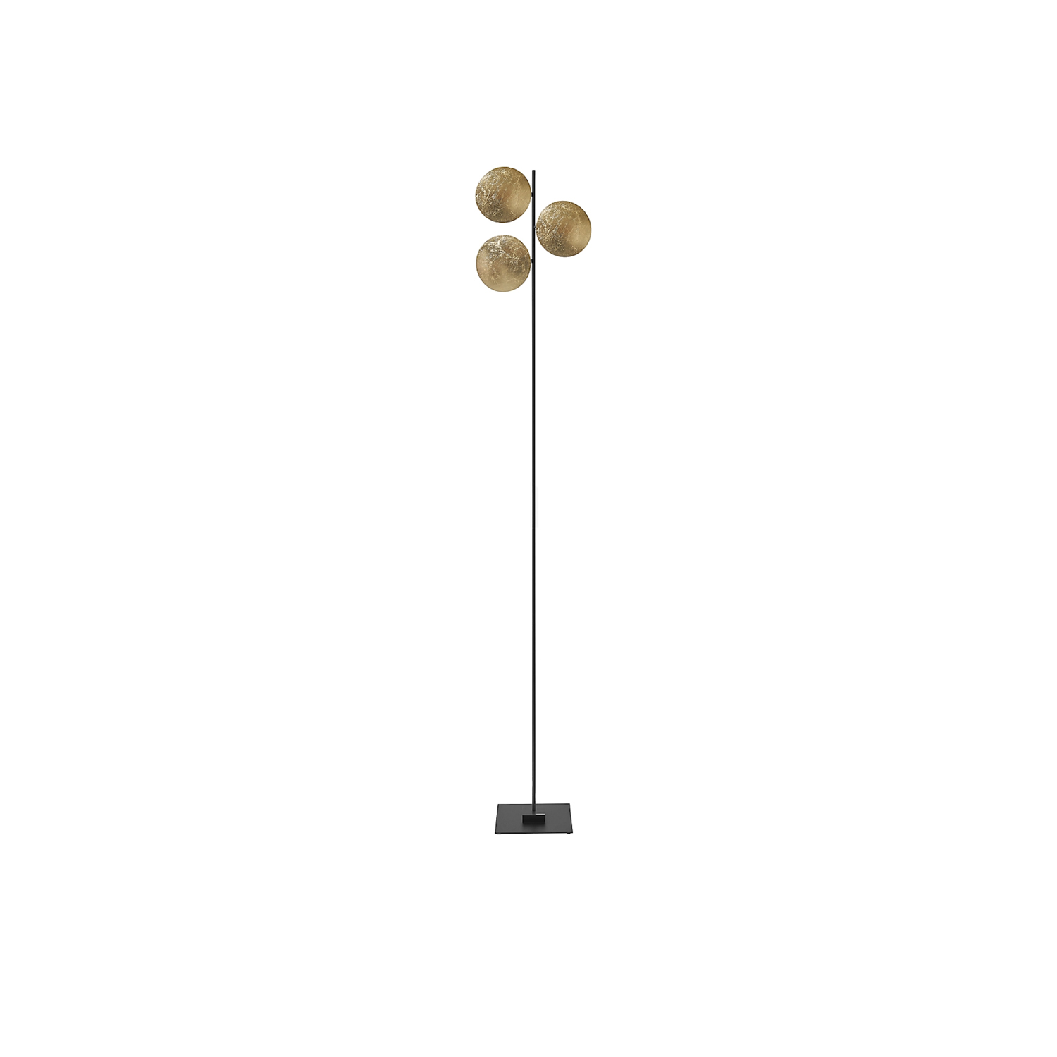 Lederam F3 Floor Lamp - Lederam embodies the accuracy of the motion required to draw a line. The warm, softly coloured disks surround a LED module with an ultra-flat shape, which creates thin lamps and suspended forms with curved, sinuous lines. | Matter of Stuff