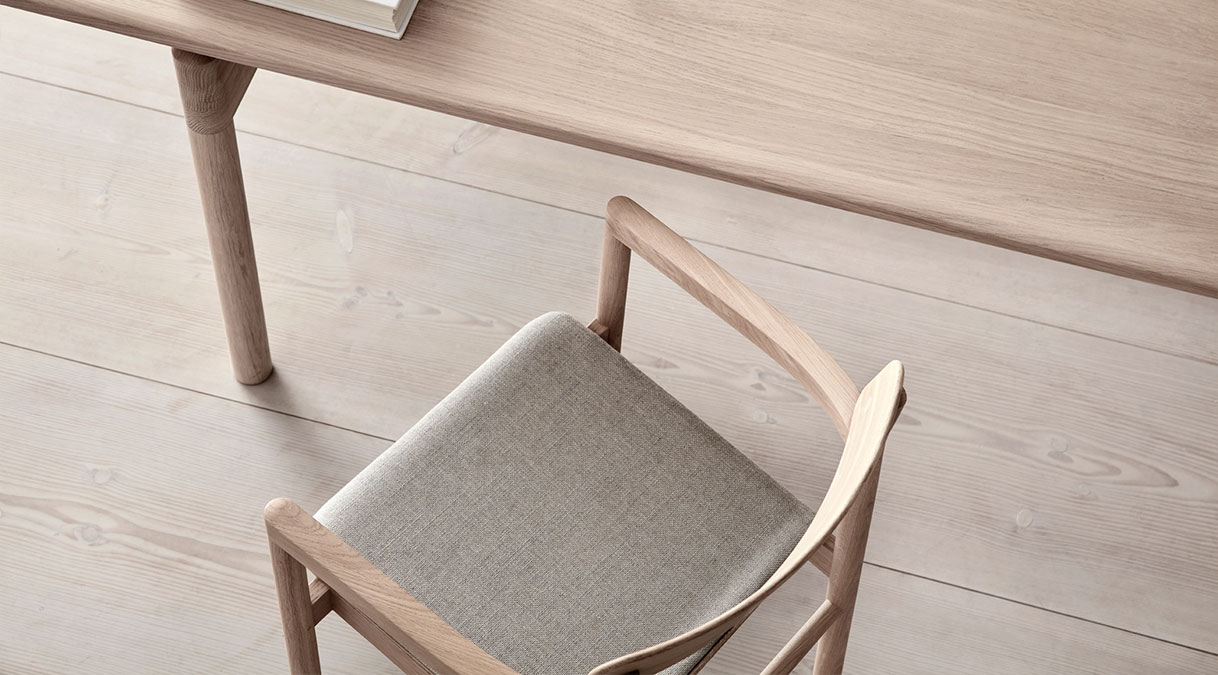 Post Armchair Seat Upholstered