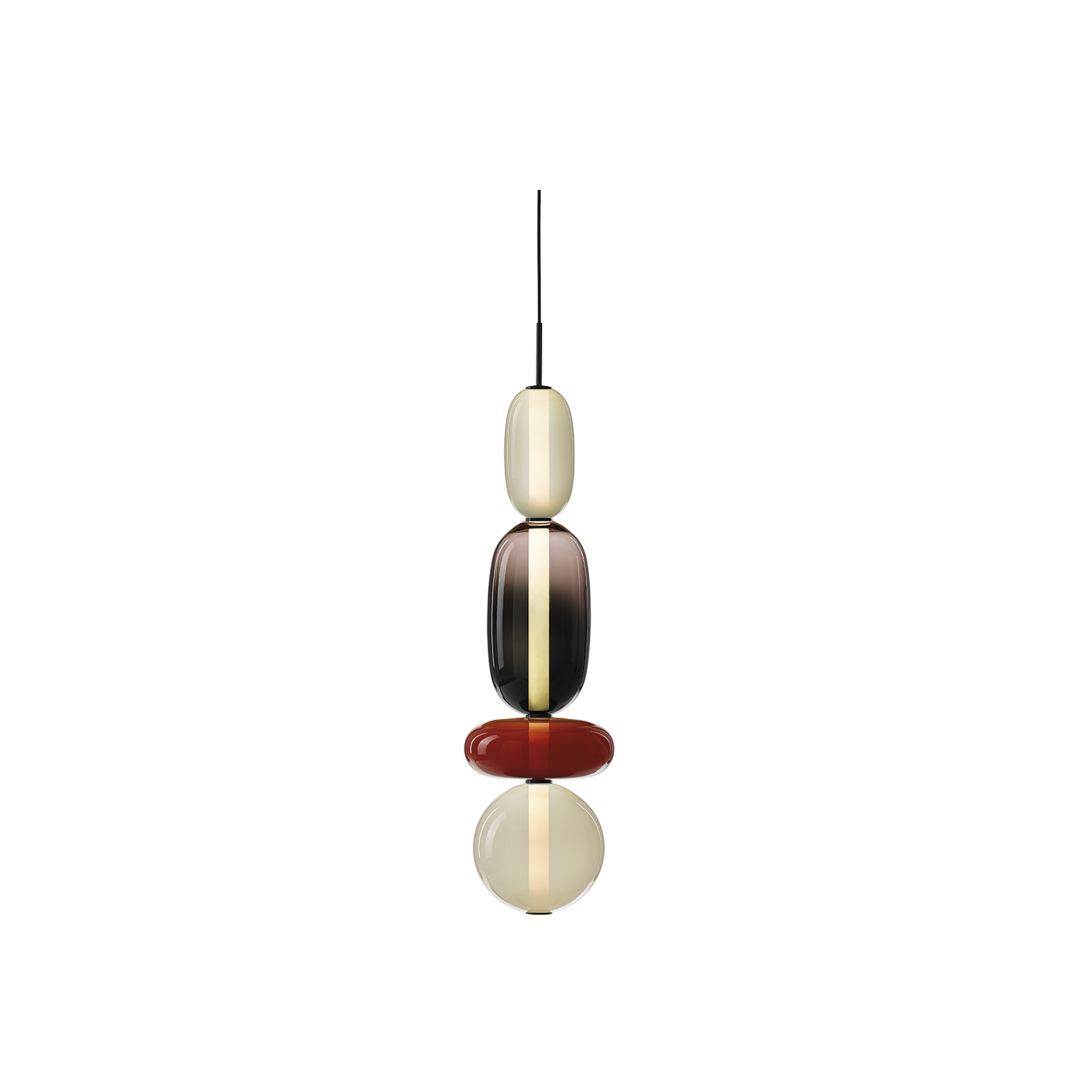 Pebbles Long Pendant Lamp - Keepsakes of treasured memories.
