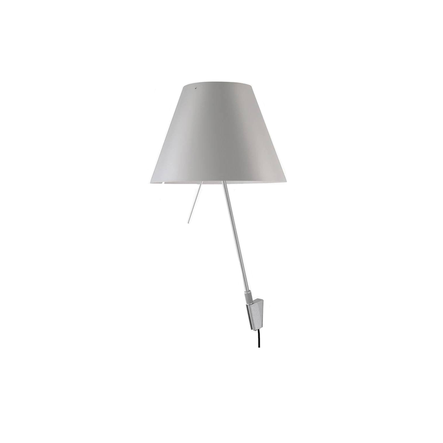 Costanza Wall Lamp - Slender and discrete, this lamp fits easily into any context, public or private. The handy rod near the light source makes it easy to turn the unit on or off.   | Matter of Stuff