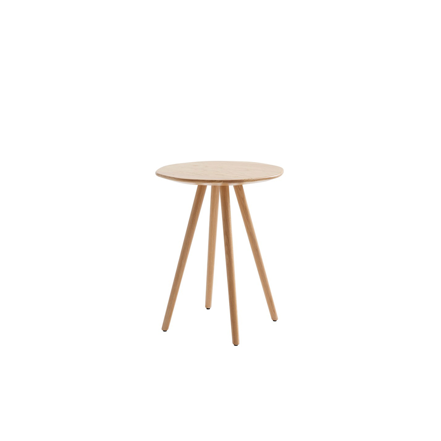 Eight 45 Coffee Table - Louise Hederström longed to explore how a strict geometrical form could become organic without losing its intrinsic 'mathematical' character. The result was Eight (2018) coffee table – a flowing octagonal design that works equally well in both formal and more relaxed furniture settings. Eight is available in three versions (H530 352x352, H575 454x454, H480/600x600mm). The solid wood table comes in oak, ash, birch, standard stains on ash and white glazed oak or ash.  Tables are also available in our standard colors with a tabletop of MDF. Despite its slim silhouette, Eight table stands stable and steady on its four legs. Please enquire for details of non-standard finishes. | Matter of Stuff