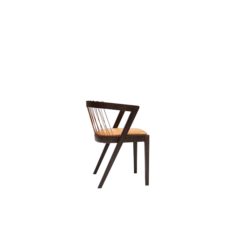 String Armchair - Collection includes the armchair and stool made in solid beech wood, characterized by pronounced curves.   Suitable for commercial, contract, domestic and residential use. The armchair is stackable up to 3/4 pieces.     | Matter of Stuff