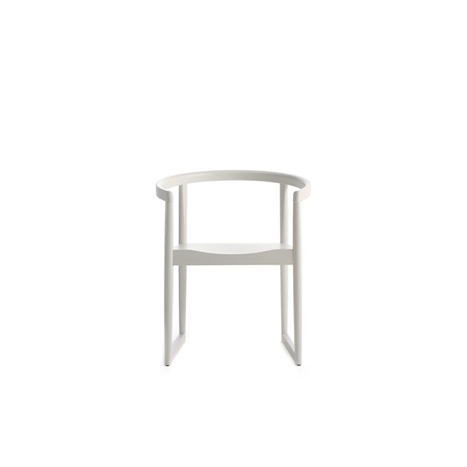 Nordica Armchair - <p>Resembling the shape of an embrace, armchair with frame in turned solid beech or lacquered beech. Seat in multiply, or upholstered.</p>  | Matter of Stuff
