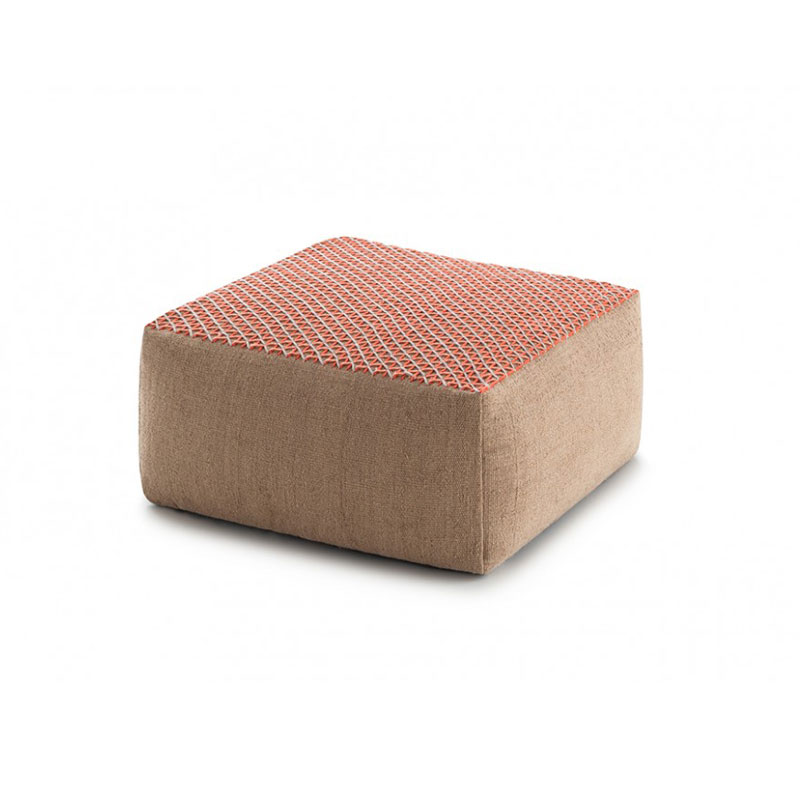 Raw Pouf - Everything from its name, a synonym for purity and strength, to the Mediterranean architecture which inspires it, is a statement of sincerity and authenticity.A layer of soft wool over a jute base. Harmonious dialogue arises from the juxtaposition of two apparently antagonistic languages.The freshness of the permeable geometry of this second layer brings a contemporary look to an eminently classical design. Due to the handmade nature of the GAN product, slight variations in size, colour, finish are normal.   | Matter of Stuff
