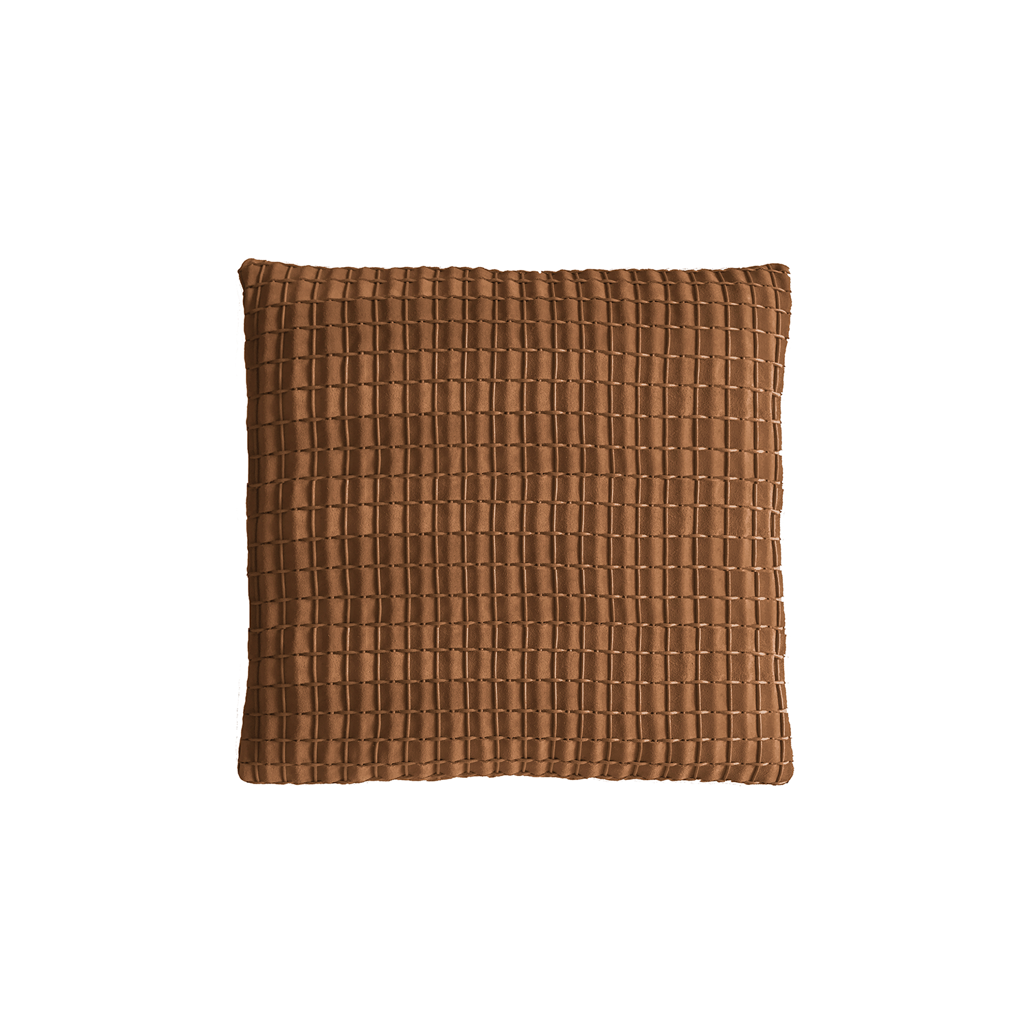 Cordao Woven Leather Cushion Square - The Cordao Woven Leather Cushion is designed to complement an ambient with a natural and sophisticated feeling. This cushion style is available in pleated leather or pleated suede leather. Elisa Atheniense woven handmade leather cushions are specially manufactured in Brazil using an exclusive treated leather that brings the soft feel touch to every single piece.   The front panel is handwoven in leather and the back panel is 100% Pes, made in Brazil.  The inner cushion is available in Hollow Fibre and European Duck Feathers, made in the UK.  Please enquire for more information and see colour chart for reference.   | Matter of Stuff