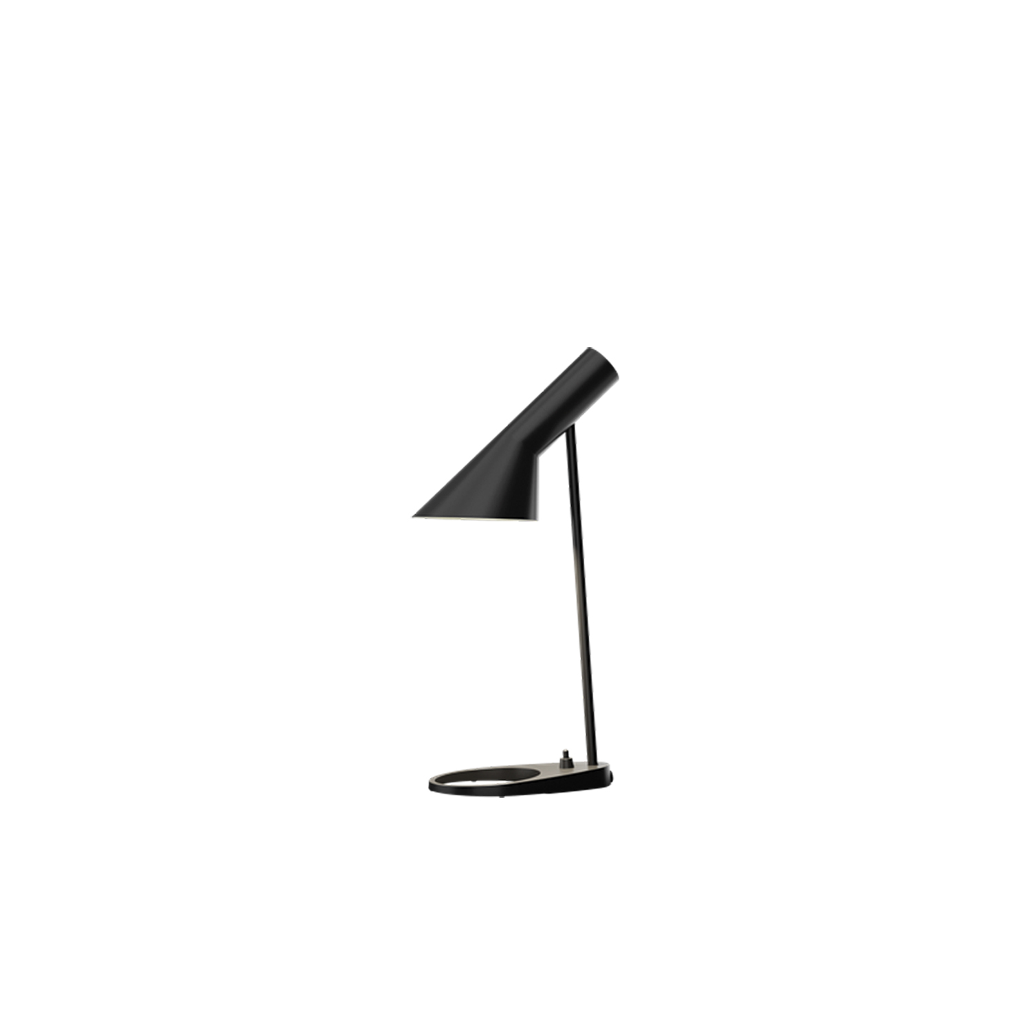AJ Table Mini Lamp - The fixture emits downward directed light.‎ The angle of the shade can be adjusted to optimize light distribution.‎ The shade is painted white on the inside to ensure a soft comfortable light.‎