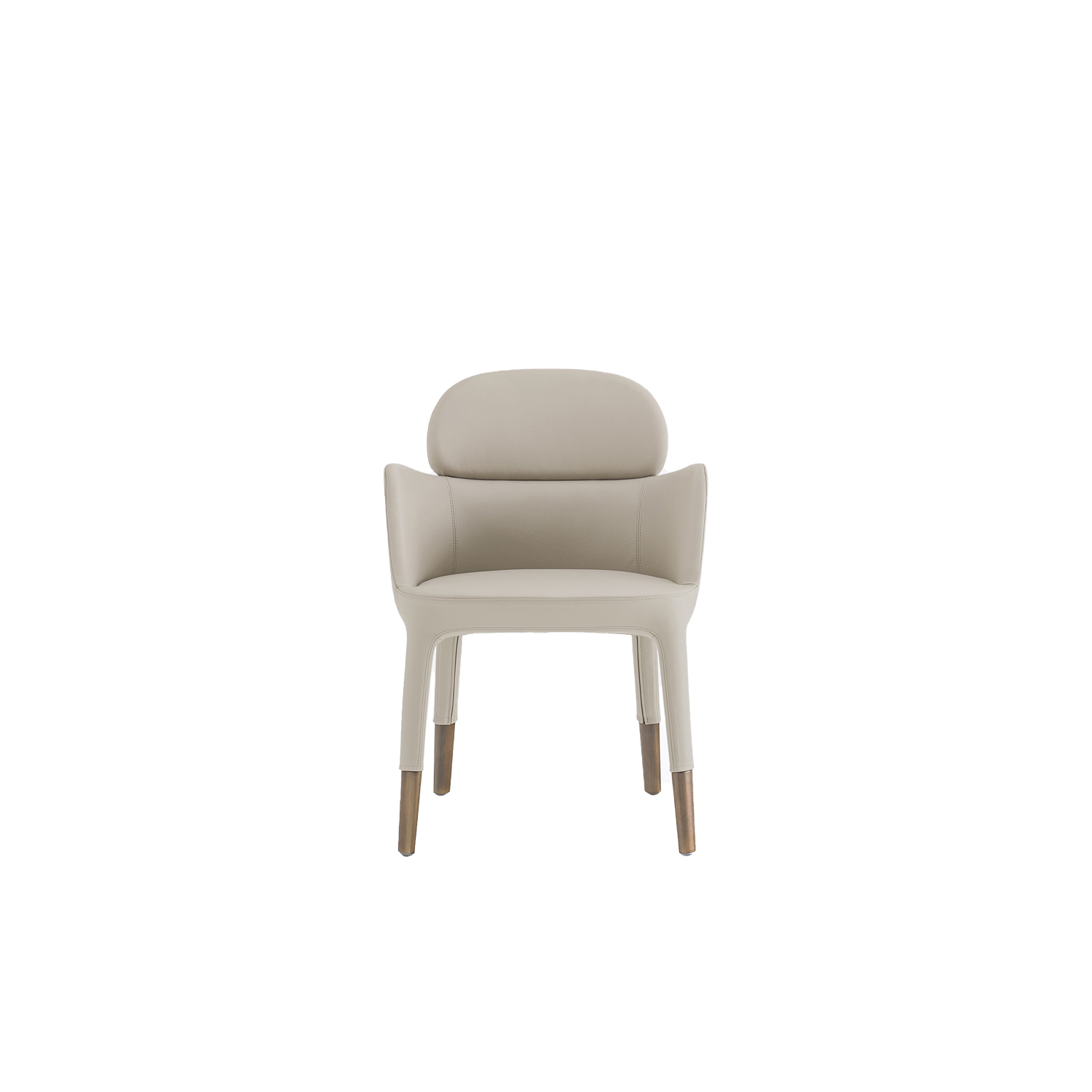 Ester Armchair  - Ester is a mix of elegance, ergonomics and functionality. The soft and graceful lines and the great comfort offered by the seat distinguish the interior of the most exclusive restaurants and hotels in the international scenario. Armchair with upholstered shell in polyurethane foam with elastic belts and die-cast aluminium legs. | Matter of Stuff