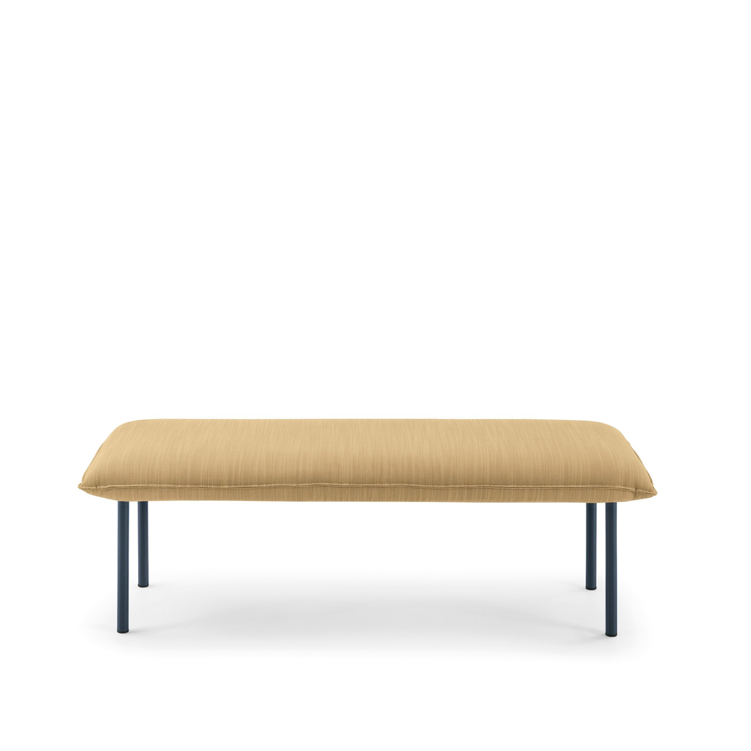 Jill Bench - The Jill padded bench with its refined and soft details approaches perfectly to the bed from which it draws inspiration. Available in the following finishings: lacquered ral 9010, 9011, 5008, 8019, 3005, 6020 e 7044.   Matter of Stuff