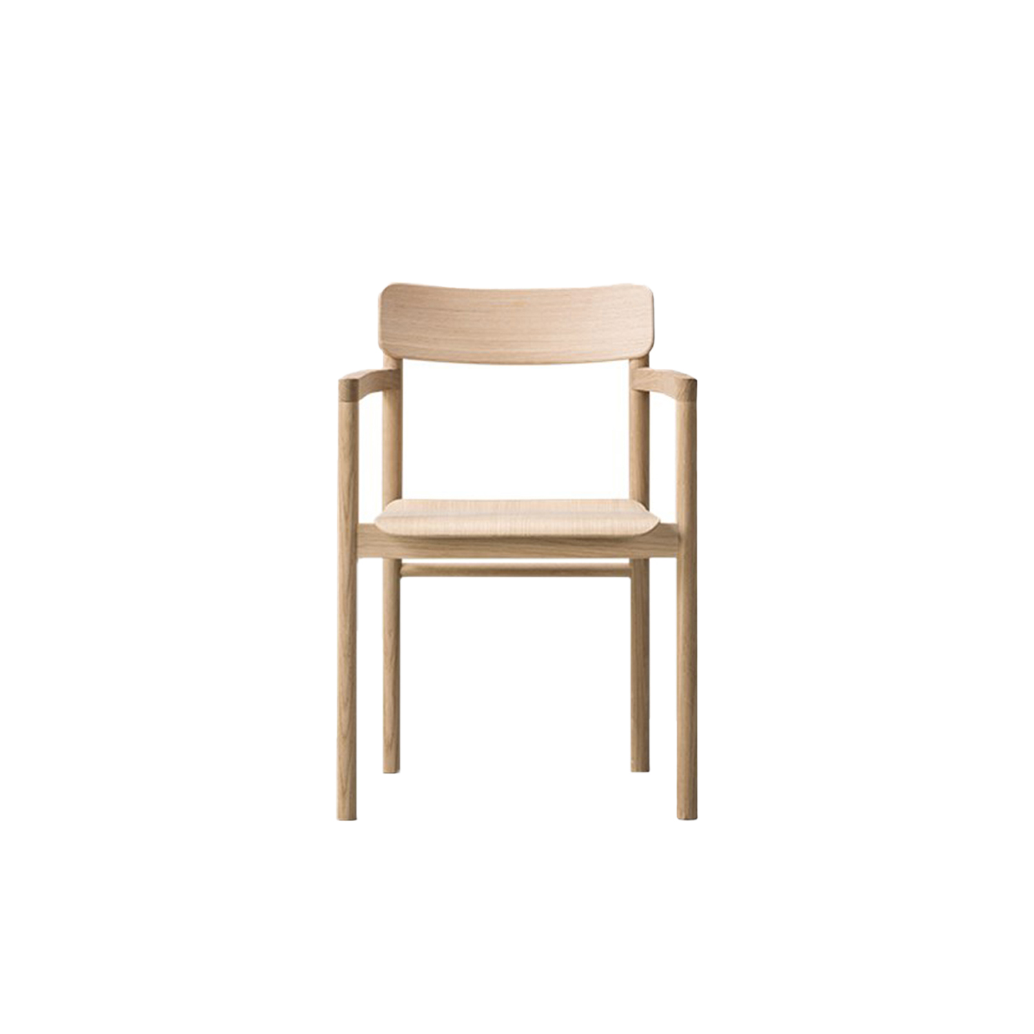 Post Armchair - With its upright stance and solid wood frame, the Post Chair embodies the principles of simplicity that drive designer Cecilie Manz. Cleverly constructed with a minimal use of space for the arms yet a comfortably wide seat, the Post Chair looks clean and crisp. A welcome addition to any restaurant, hotel, private home or corporate setting, it features a plywood seat and back to add subtlety, available in an upholstered seat version in leather or fabric. | Matter of Stuff