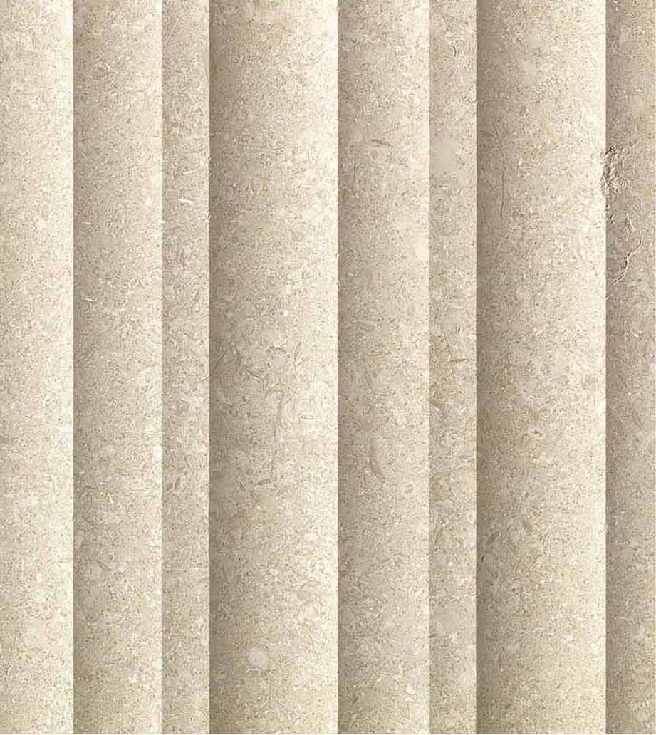 Grolla Beige Duna - Grolla hard limestone, the company's flagship product, is a versatile and resistant material because it lends itself to all types of processing.  What distinguishes this stone from the others are its extraordinary certified technical-mechanical characteristics, such as low water absorption, resistance to abrasion, salt, pollution and frost.  Thanks to these peculiarities, Grolla is suitable to the realisation of outdoor projects (ventilated and glued facades, floors, swimming pools) and interiors (wall coverings, floors, bathrooms, kitchens, objects and furnishing elements such as sinks, shower trays, tubs, tables and much more).  The colors of the Grolla range from beige to intense pink shades, passing through grey.  The remarkable technical characteristics, combined with the aesthetic qualities of this stone, adapt to suited to styles, architectural contexts and design from classic to contemporary, perfectly matching with wood, glass, steel and other materials.  Interiors and exteriors, classicism and contemporaneity: for Grolla, every solution is possible. | Matter of Stuff