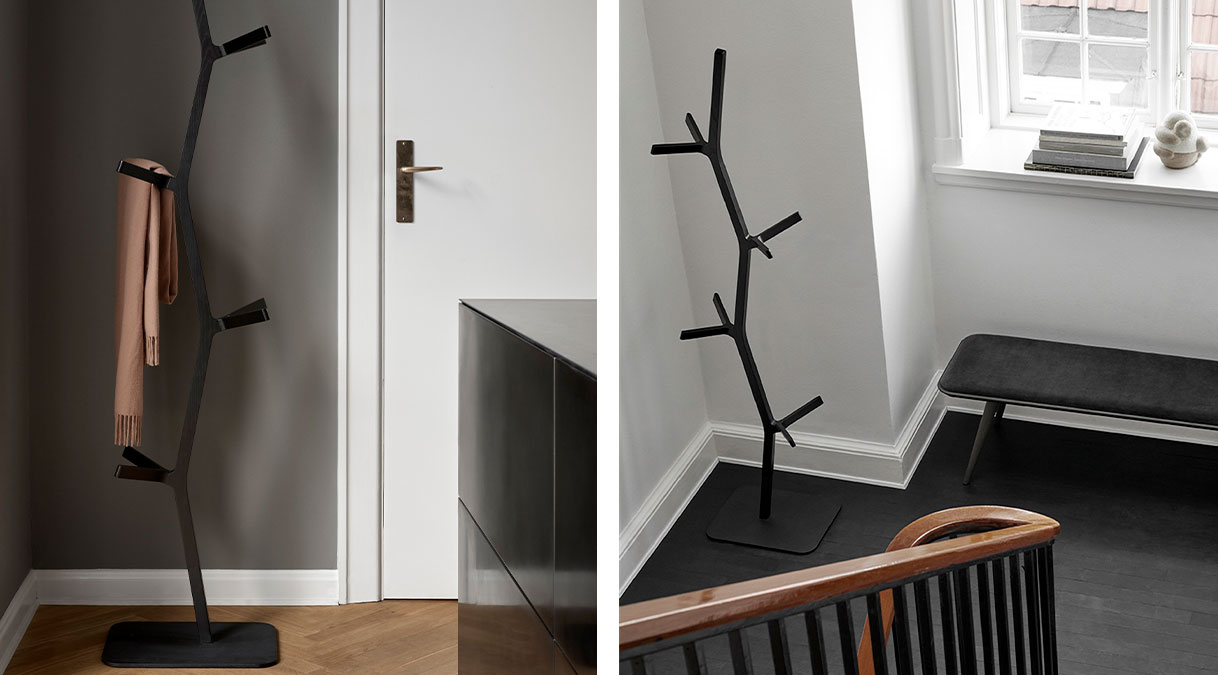 Nara Coat Stand - Nara Coat stand was designed by Shin Azumi as a way to utilise the off cuts from production of the Nara chair. The result is a sculptural object with a graphical silhouette.  Although many of our sofas and lounge chairs comprise our most celebrated designs, we have smaller pieces that are distinctive, well-crafted, modern originals in their own right. Pieces that add a touch of personality and practicality. A sense of cosiness. As punctuations to a style statement. Or just the pieces you were looking for to create a sense of completeness. Because when it comes to interior décor, sometimes the smallest detail can make the biggest difference.   Matter of Stuff