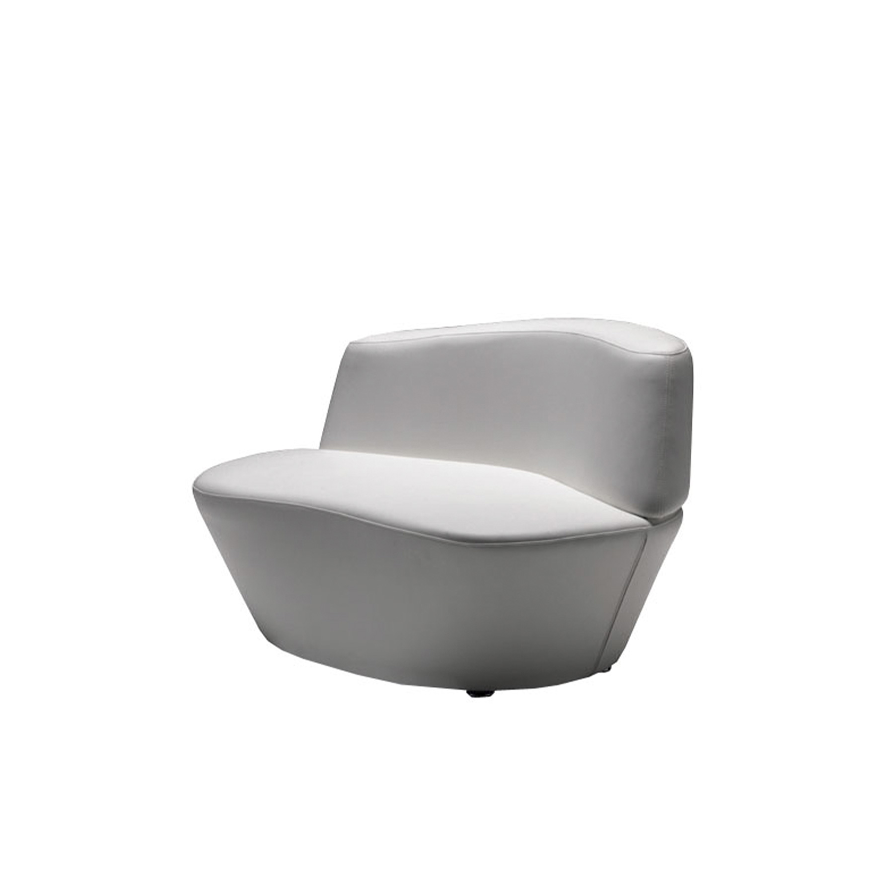 Polar Lounge Armchair - Polar is inspired by the shear forms of the ice caps in the arctic seas, thus giving life to an extremely versatile seating system.‎ The seats and backrests, characterised by their full and sheared forms can be coupled together in a variety of ways, creating numerous seating layouts or options.‎ The system is completed by a rather beautiful armchair and an original accessory which can be used as a seat or side table.‎ | Matter of Stuff
