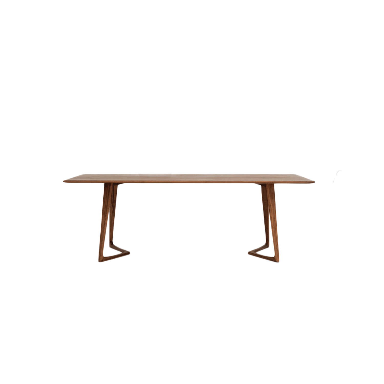 Twist Rectangular Table - TWIST – the biomorphic structure of the lightweight frame combines structural strength with flowing shapes while underscoring the sophisticated edge profiling of the tabletop. TWIST is available in round, oval and rectangular. The product family consists of the dining table TWIST, the couch tables TWIST COUCH and TWIST STONE and the bed table TWIST NIGHT.  Twist round table comes in oiled oak, colour stained oak, oiled American walnut and oiled European walnut. Available in different sizes upon request.  Colour stained oak option is available upon request at an additional charge. For colour stained oak options, please refer to the catalogue.  | Matter of Stuff