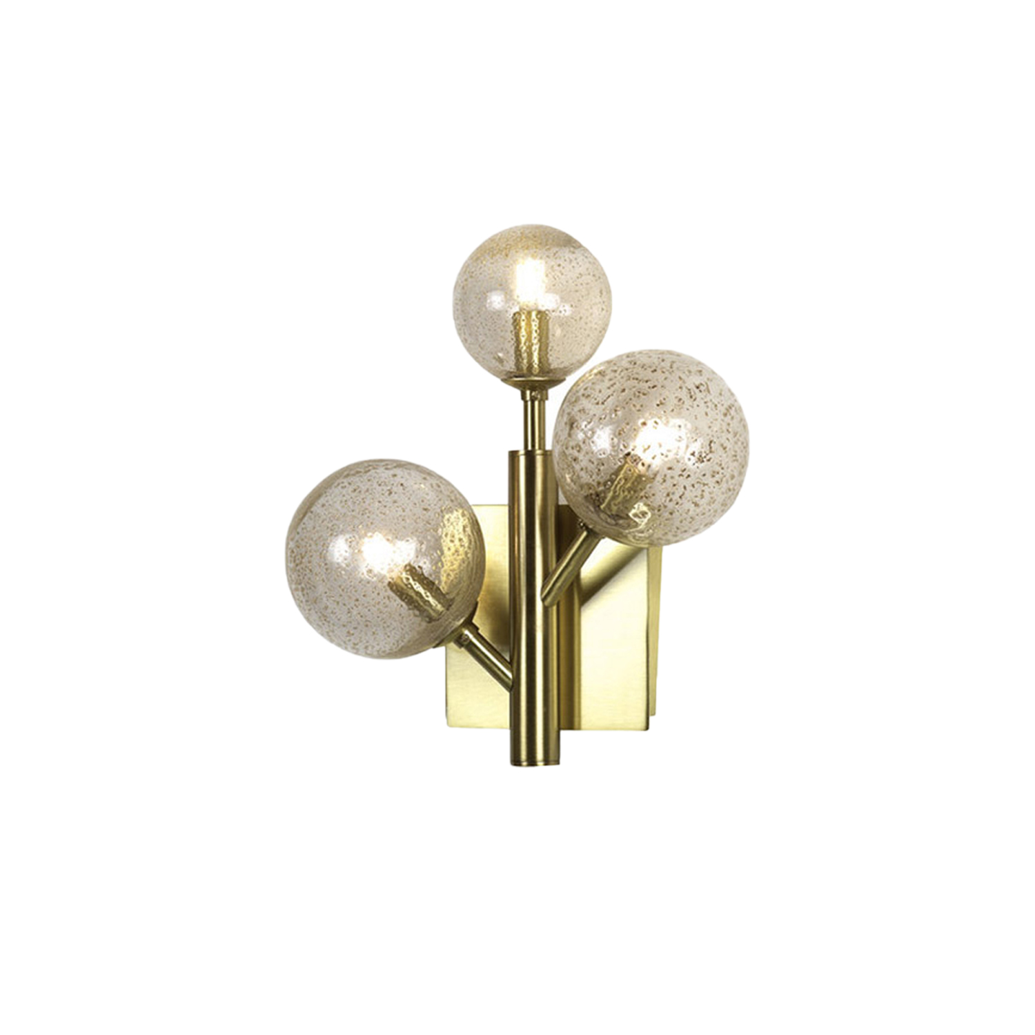 Mimosa Sconce 3 - From our new collection, Mimosa Applique is a contemporary sconce equipped with 3 glass spheres. Each ball is realised by the antique technique of glass blowing. After the processing in the furnace, glass spheres are pierced to be assembled with the frame and the light bulb E27 inside each ball. Available in more colours of frame and glass.    Matter of Stuff