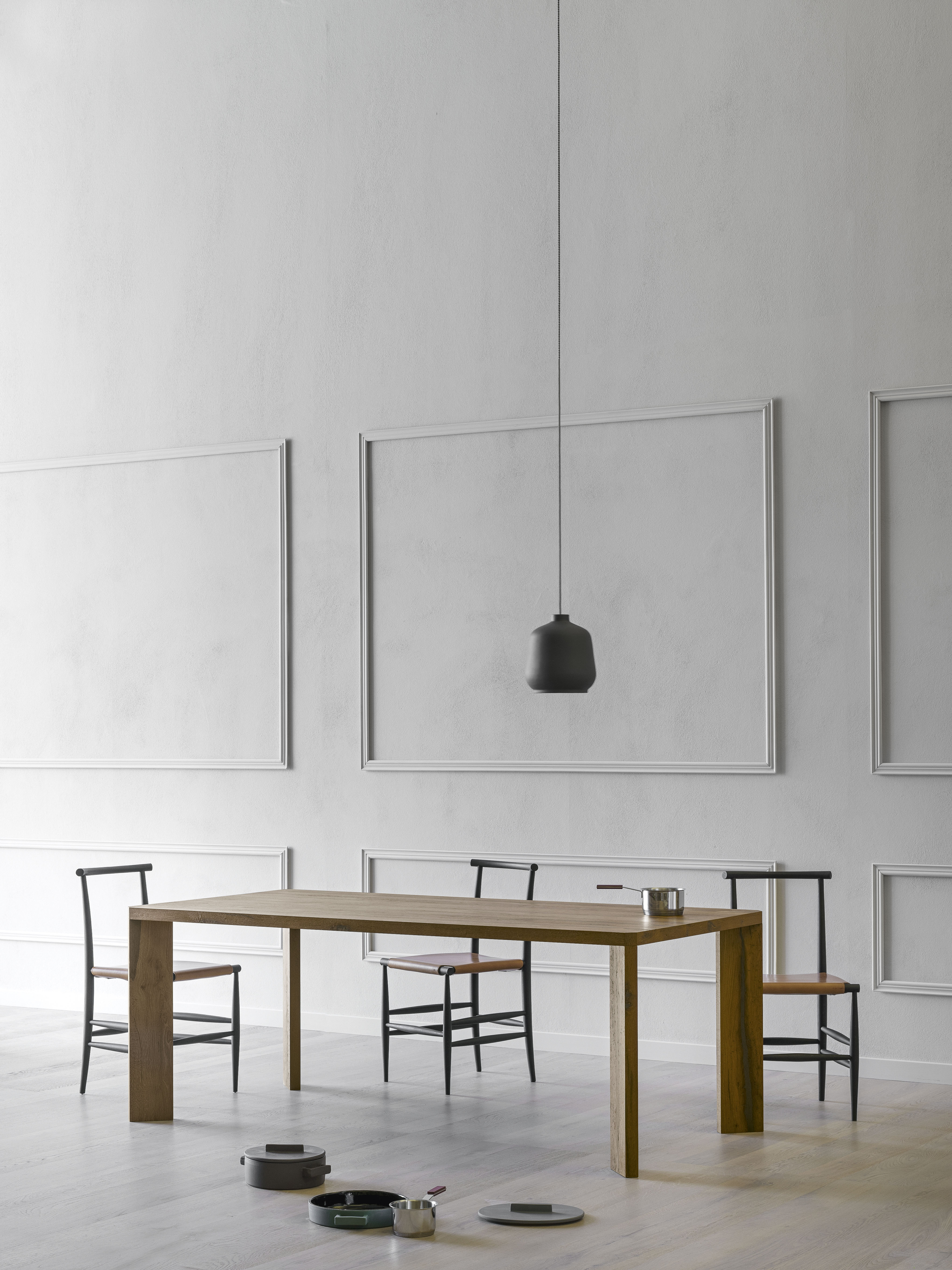 Manero Dining Table - Manero is a contemporary looking table yet has a strong association with traditional fine quality joinery. Its primitive character focuses our attention on the expressive nature of the wood. An assertive table with no frills.  | Matter of Stuff