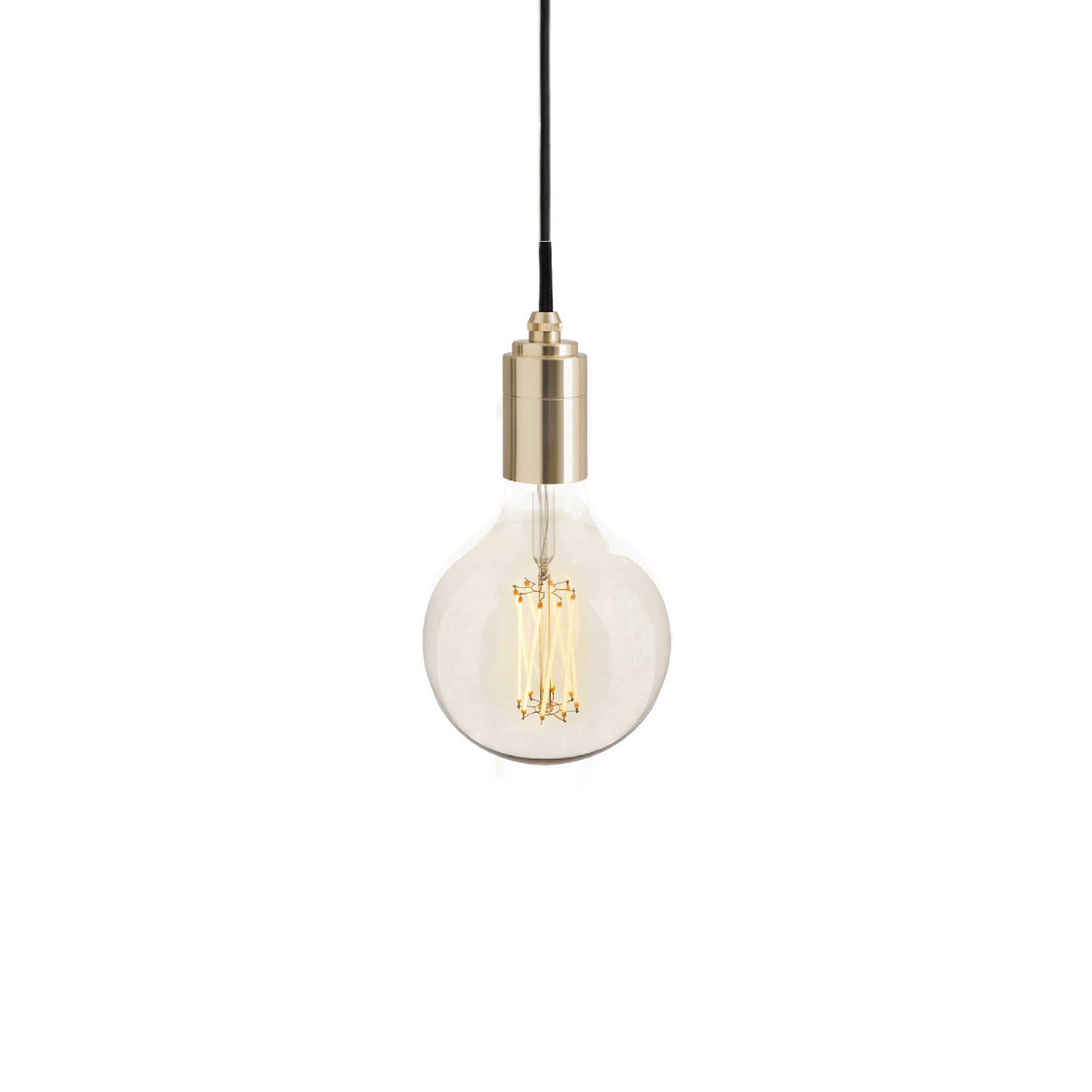 Gaia Pendant Light - The Gaia Pendant Light combines the popular, exposed-filament style of the Gaia bulb with a single hanging pendant to create a ready-made light fixture for any interior space.  Stylish and modern, the Gaia Pendant Light is perfect for hanging in the centre of a room or hallway, above an island or as a decorative feature. The phosphor coated filaments and iron-tinted glass create a warm, amber glow to add atmosphere to any space.  Available with the Brass, Graphite, Oak or Walnut pendant.  Connect to one of our recommended dimmers for maximum performance.  Features – Dimmable – Stylish lighting fixture – Energy-efficient, LED technology – Exposed filament bulb design – Available with a Brass, Graphite, Oak or Walnut pendant – 3 metre length cord for versatility | Matter of Stuff