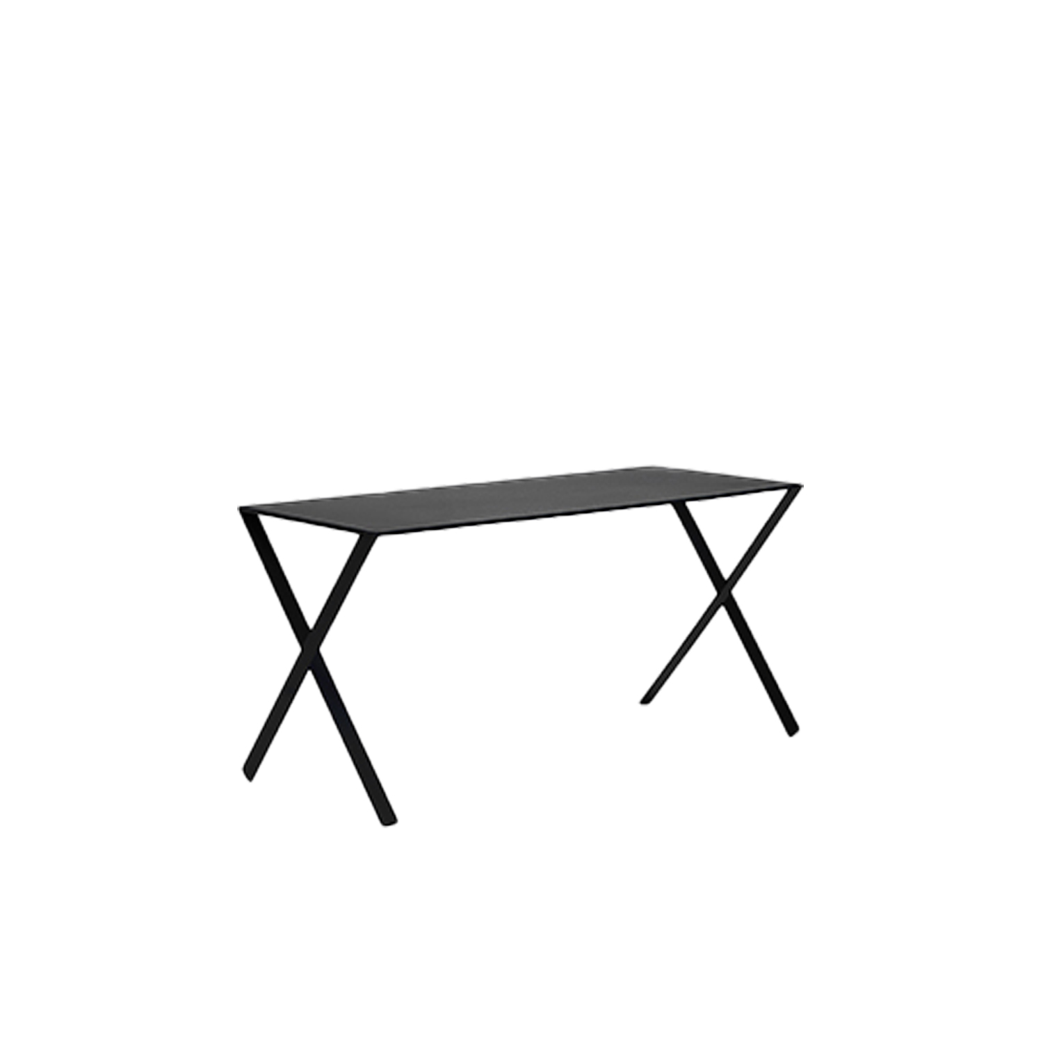 Bambi Table - The Bambi table, which can also be used as a desk, was designed by Nendo. Completely matte lacquered in the colours white, anthracite and mud, the table is composed of a top made of folded laser-cut aluminium plate with a metal support base and legs in metal extrusion.  | Matter of Stuff