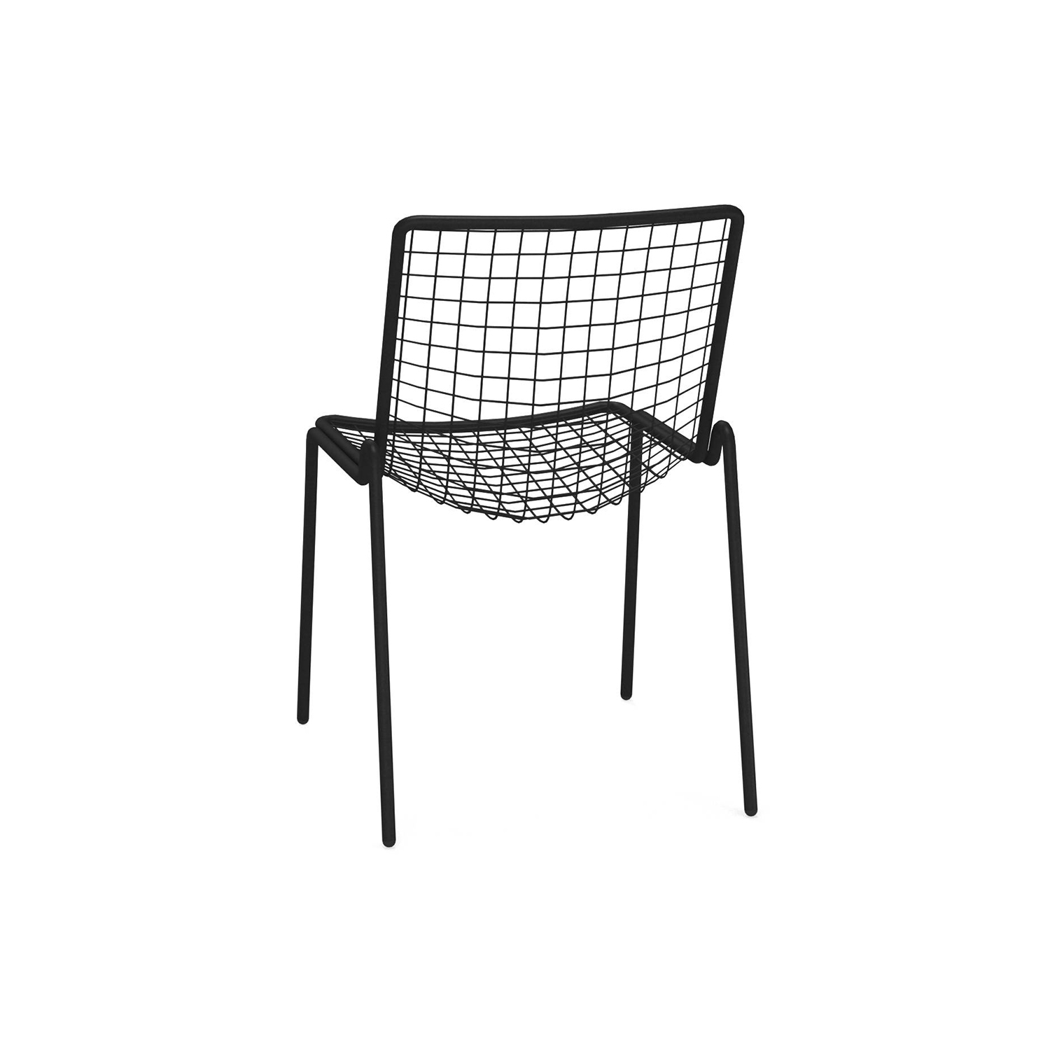 Rio R50 Chair - Set of 4 - <p>RIO R50 is an expertly crafted re-edition of the historic model Rio of the 70s. RIO R50 has a frame in ASFORM steel tube, high-quality steel with high mechanical performance and high resistance to weight. </p> <p>The manufacturing process creates a strongly characterized sign, a letter R, which is identified in the junction between seat and backrest. All structural weldings are made with Mig technology which gives great resistance to stress and rust risk; meanwhile the net, composed by steel wires, is electro-welded to the frame for a more precise aesthetics. </p> <p>Like all EMU products, a cataphoresis pretreatment is provided and then a thermosetting powder coating treatment, which finally produces a layer of homogeneous paint in terms of thickness with a high level of adherence and resistance. Nylon feet supports make it easy to move and protect the product.</p> <p>RIO R50 is a complete seats collection composed by dining chair and armchair, lounge armchair, swing armchair, stool and coffee table.</p>  | Matter of Stuff