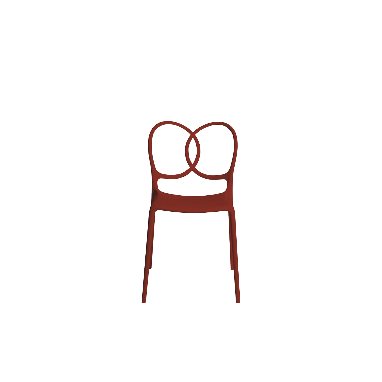 "Sissi Chair - Sissi is a sculptural, very versatile, self- centred and contemporary piece. ""Its modern design winks cheekily at the past and at the female world. The merging and intersecting rings look as if they have been bent by the hand of the viennese craftsmen, whom since over a century ago, would offer the world an elegant and design archetype. The connections, linked in such a sensual way, turn sissi into a refined and sculptural piece, just like the ultimate viennese chair - famous for its wooden curves- it is inspired by. Just like a confident, self-assured women changes her clothes to suit her mood, this chair is complemented by an essential part of its design, the seat cover.""