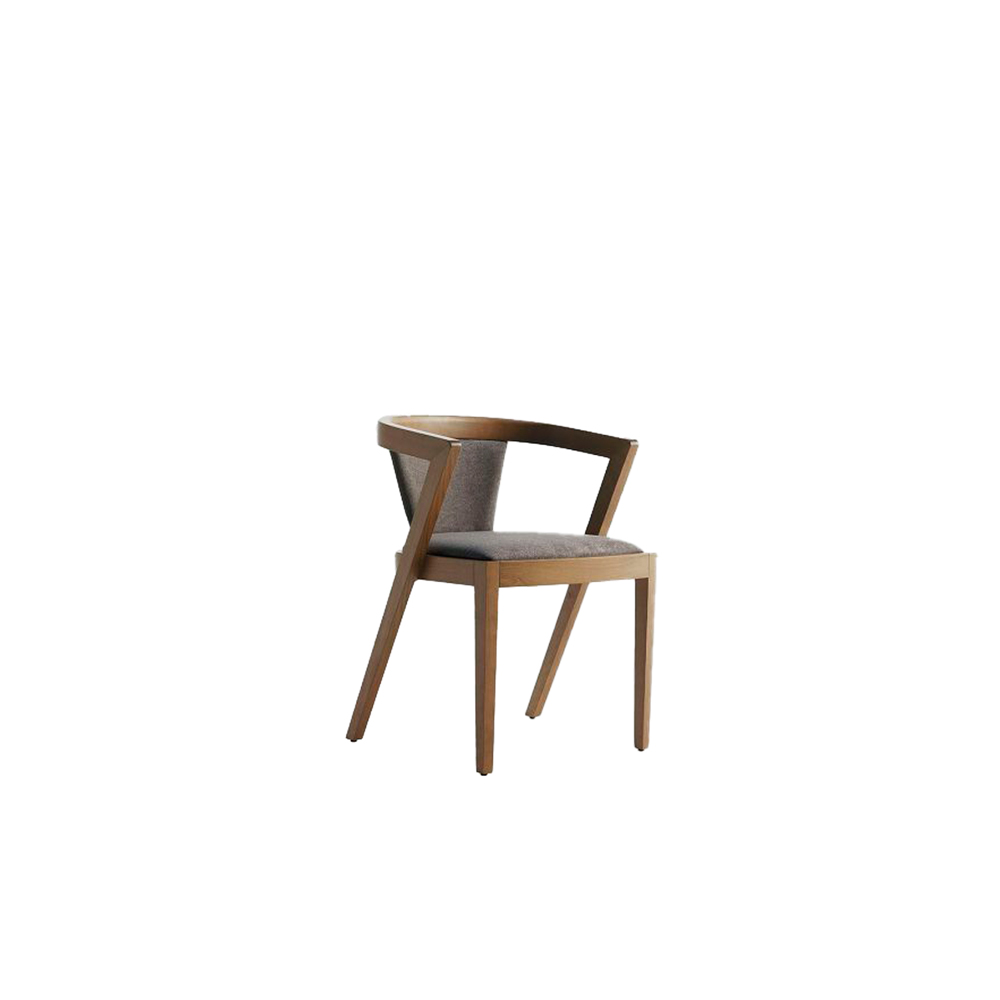 String/B Armchair - Collection includes the armchair and stool made in solid beech wood, characterized by pronounced curves.   Suitable for commercial, contract, domestic and residential use. The armchair is stackable up to 3/4 pieces.       Matter of Stuff
