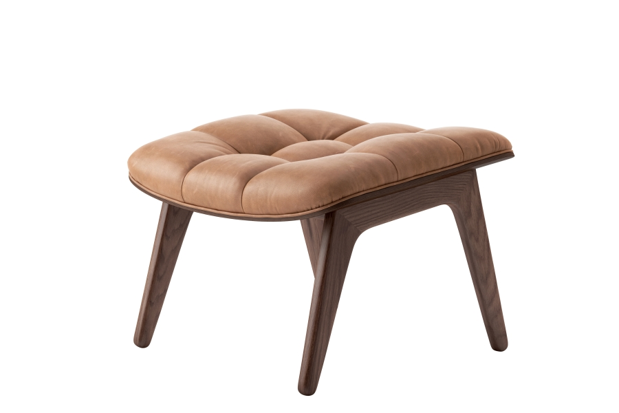Mammoth Ottoman - The Mammoth Ottoman is handcrafted with a solid oak frame. It's designed to go together with the Mammoth Chair and has matching upholstery. The Mammoth Ottoman seat is formed via the same compression mould as with the seat and back of the Mammoth Chair.   | Matter of Stuff