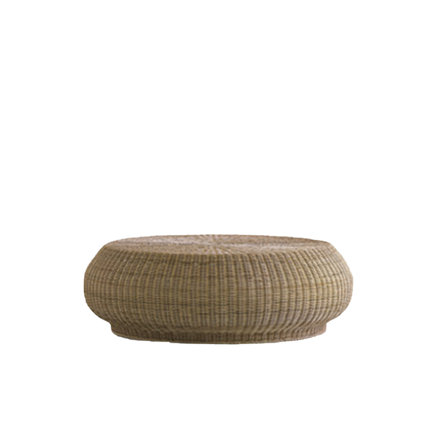 Bolla 15 Coffee Table - Bolla is a coffee table in natural melange rattan core. It is also available in matt white, grey, air force blue, black lacquered. | Matter of Stuff