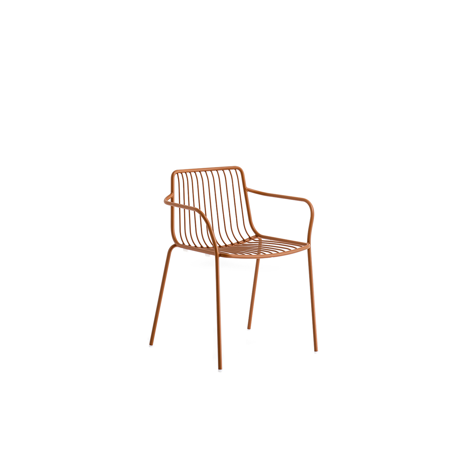 Nolita Armchair - Nolita is a family of outdoor seatings which recalls the origins of a historic course started by Mario Pedrali in 1963 with his first metal garden chairs. Armchair with high backrest, steel tube frame powder coated for outdoor use.