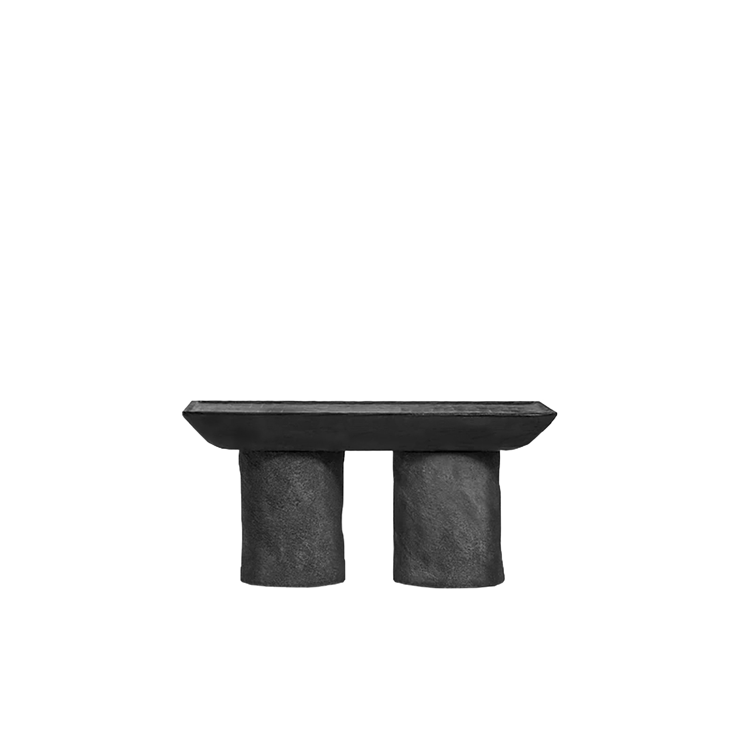 "Korotun Coffee table - Almost a cave-like, ""carved in stone"", minimalist coffee table with strong sturdy character - bold emphasis for a modern interior.