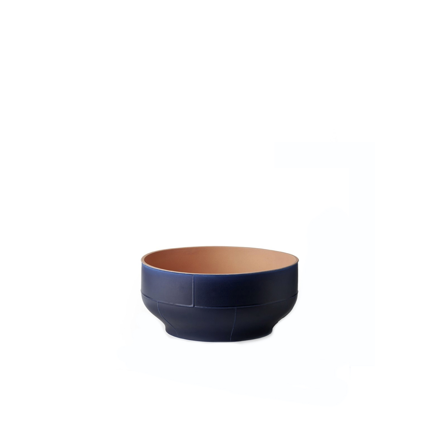 Two-Toned Bowl - Bowl. Cast in white clay. Two-tone matt glaze, orange on the inside and blue on the outside.