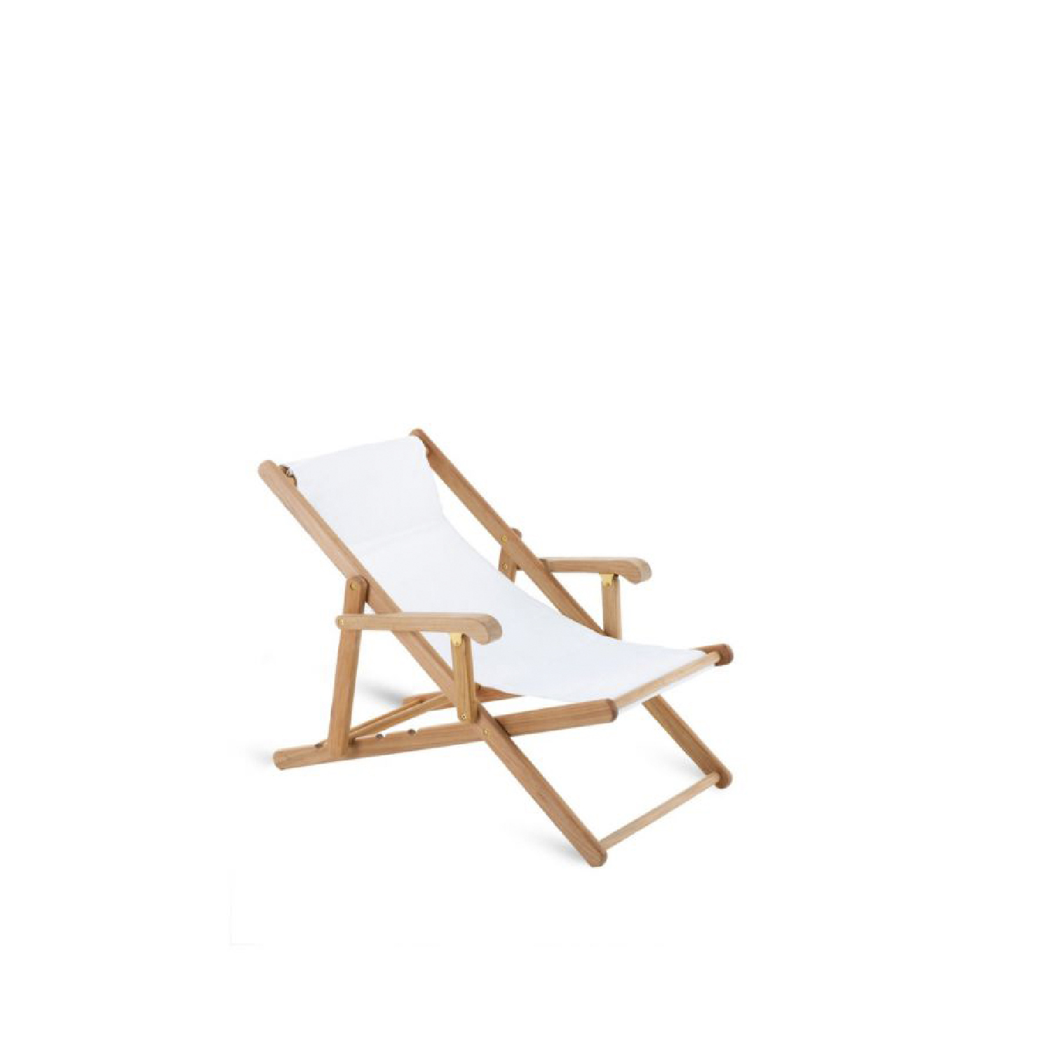Milton Folding Deckchair - The rich MILTON collection is particularly loved by those in search of traditions that extol the sinuous shades of teak wood, creating tasteful, timeless atmospheres.  Made of teak, MILTON deckchair is s covered in cotton colour Cotone canvas and Canatex® plastic fabric (hemp thread and 75% PVC - 25% polyester), perfect to be used by a swimming pool.  A comfortable headrest cushion can be easily fitted into the special opening of the canvas. | Matter of Stuff