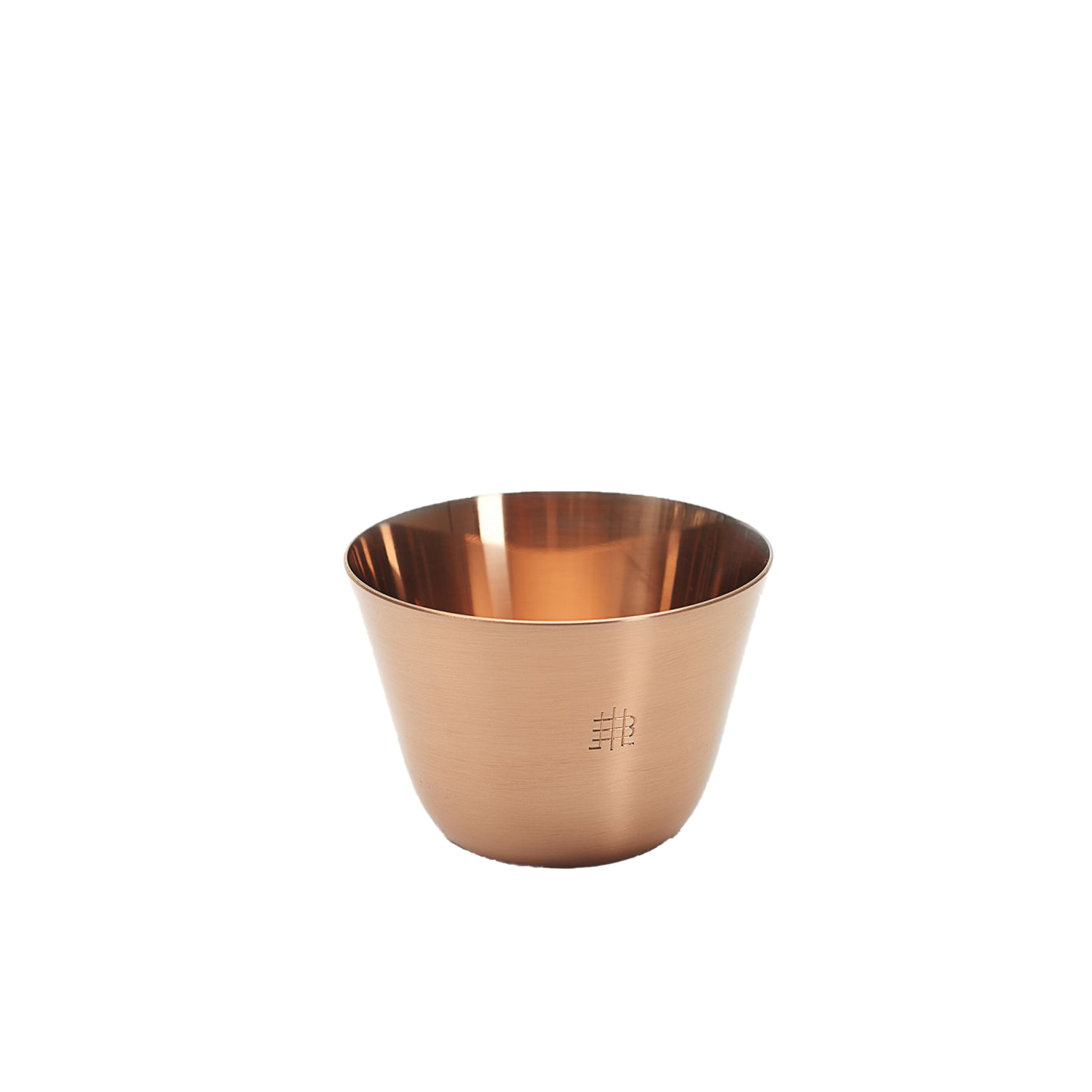 Still Copper Cup - Set of 6 - What are the true luxury goods of today? For us, it's not glitter, gold, or heavy cut crystal vases. People of today need carefully designed and well-crafted objects. Pure drinking water is a treasure and this drinking set – STILL – reminds us to cherish and enjoy our world's most important resource. Formafantasma didn't come back with a single piece, but instead with a series that tells an evocative story. | Matter of Stuff