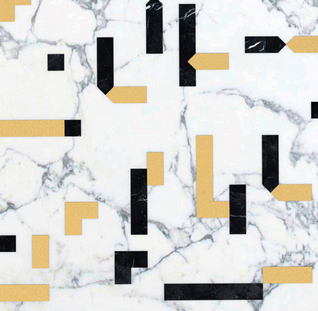 Pixel White - Ma.C.S. combines artisan crafted production with industrial processing powered by numerical control machines. This is demonstrated by the new marble inlay covering collection. The research aims to integrate the classical idea of marble inlay (combined in some cases with other materials such as wood and metal), with shapes, compositions and innovative, charming designs. All of that is rigorously made in Italy.  The 2017 collection is composed of tiles, large marble slabs and other architectural solutions. The design is characterised by both serial geometric sequences and eclectic surfaces, inspired by nature shapes and dreamlike dimensions.  The proposed coverings, both horizontal and vertical ones, are fully customizable in size and colors, according to client needs. | Matter of Stuff